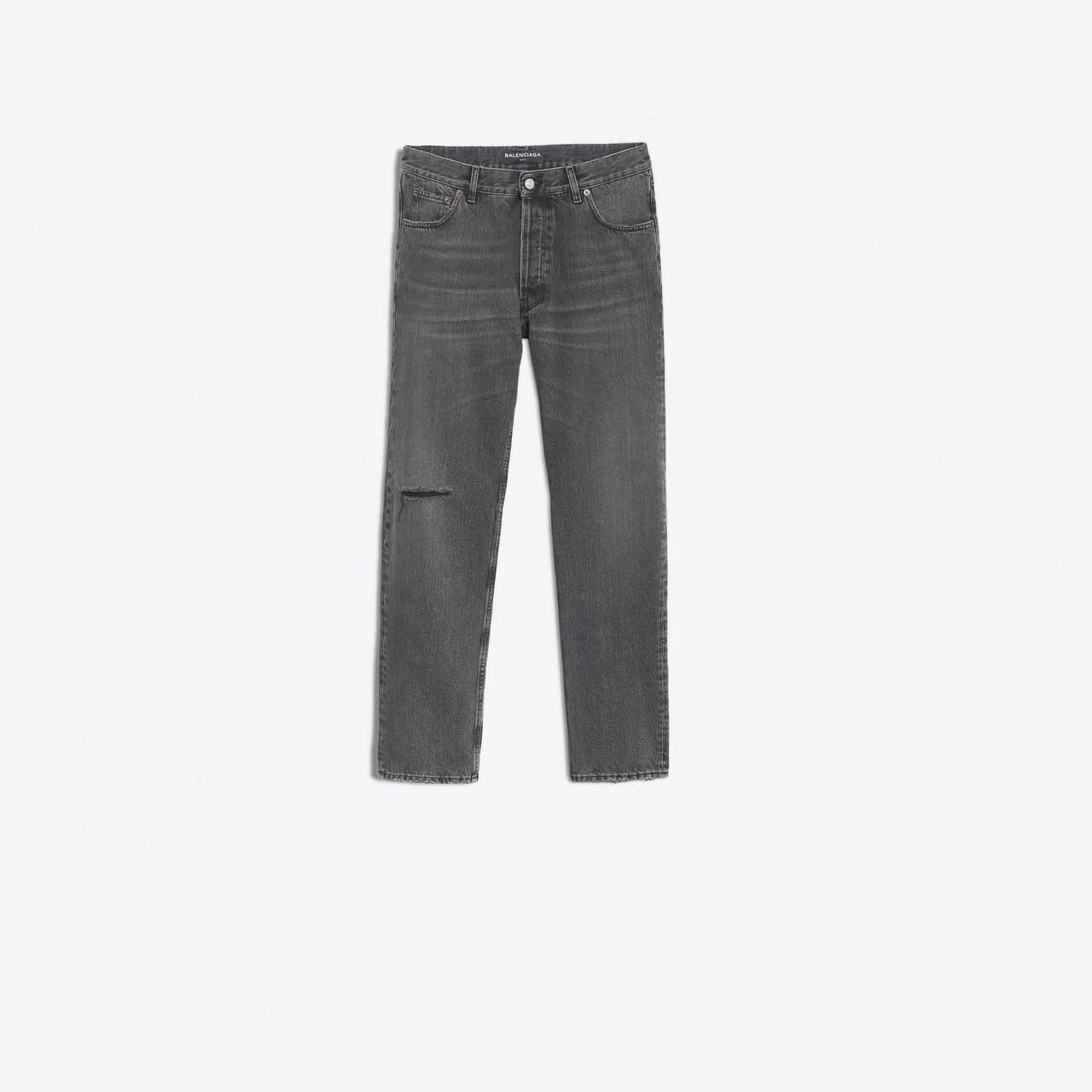 e11ad837a2 Balenciaga - Gray Knee Hole Jeans for Men - Lyst. View fullscreen