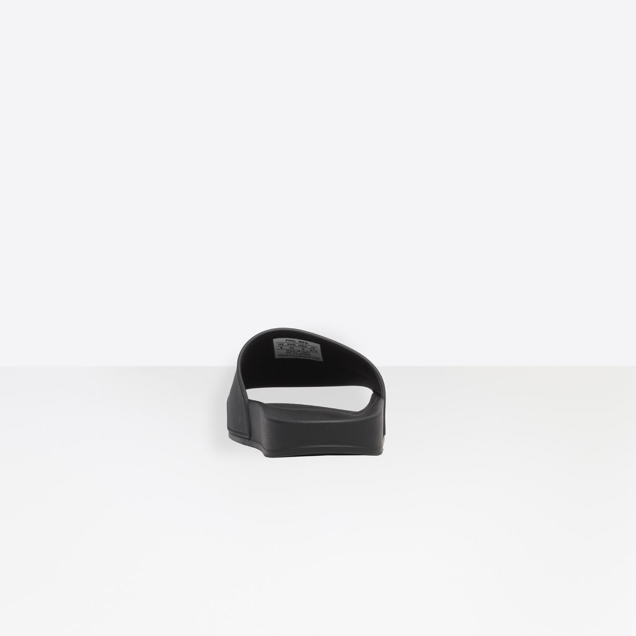 ab9171a629d Balenciaga - Black Piscine Slide Sandals for Men - Lyst. View fullscreen