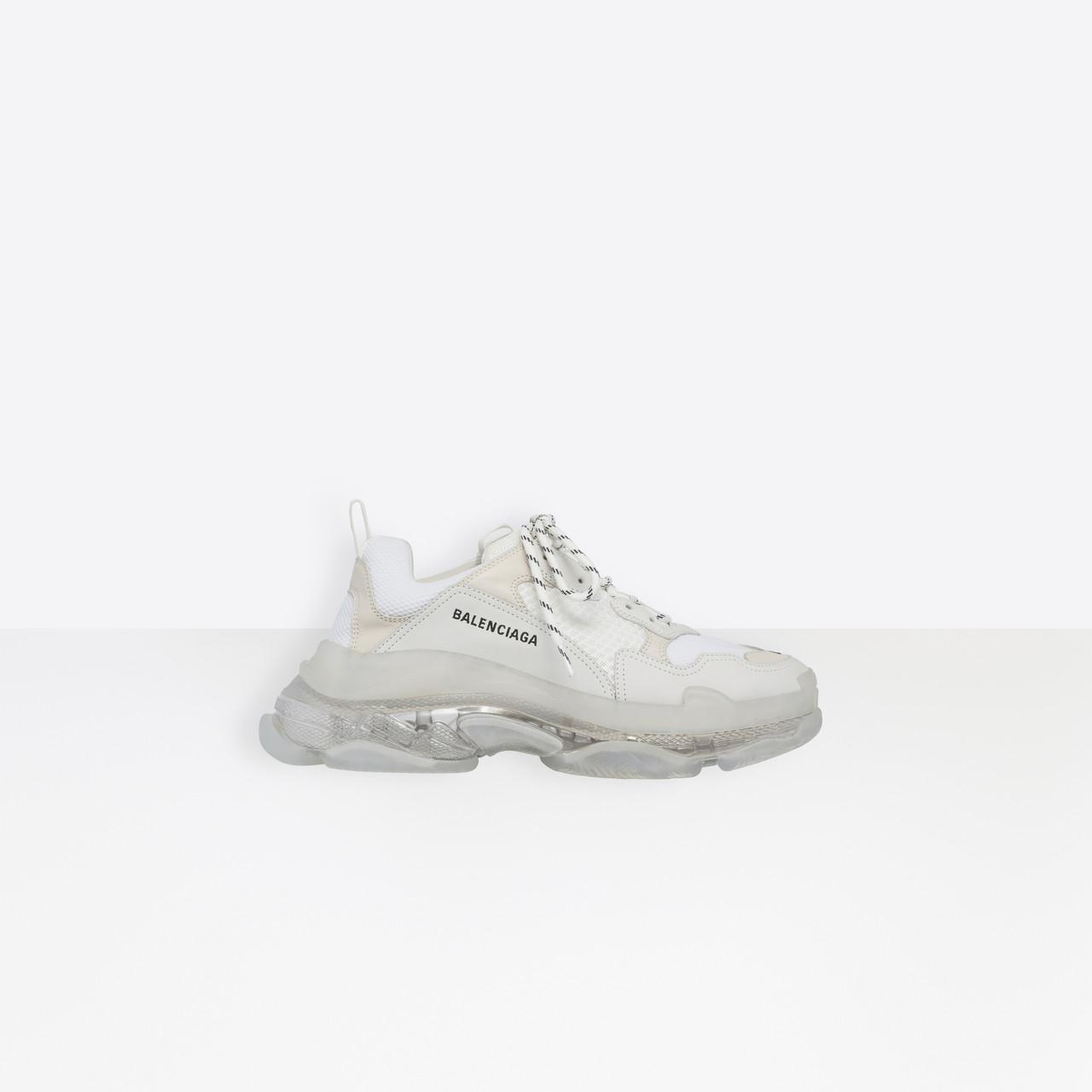 d39f92582f72 Balenciaga - White Triple S Clear Sole Trainers for Men - Lyst. View  fullscreen