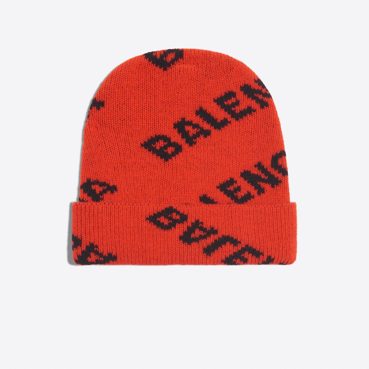 ccb50969e03 Balenciaga Jacquard Logo Beanie in Red - Save 16.66666666666667% - Lyst