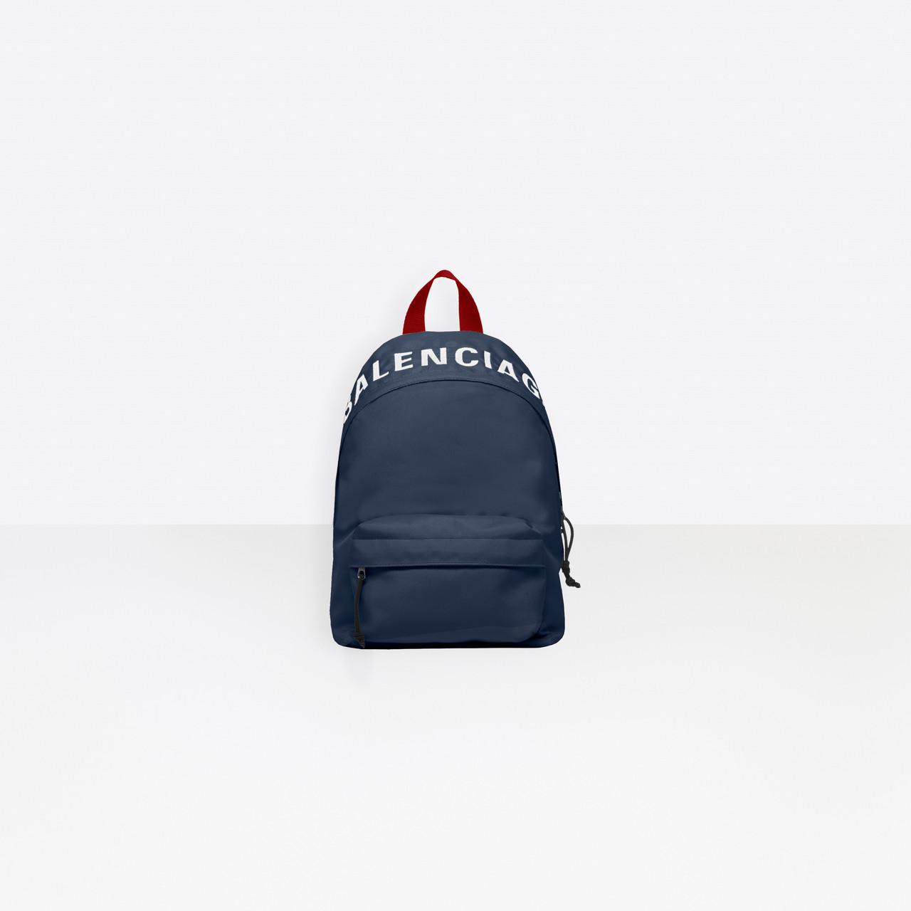 ba1b835d16638b Balenciaga Wheel Embroidered Shell Backpack in Blue - Save 9% - Lyst