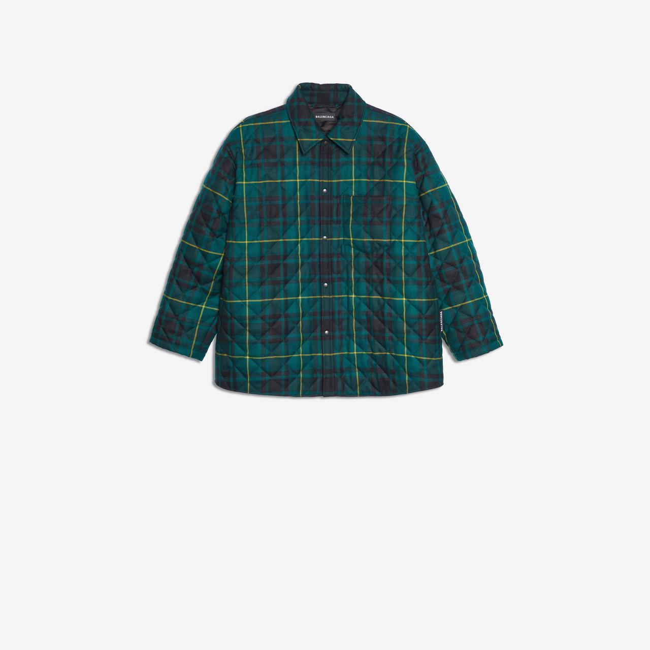 a737b234dfe6a Lyst - Camisa acolchada Balenciaga de hombre de color Verde