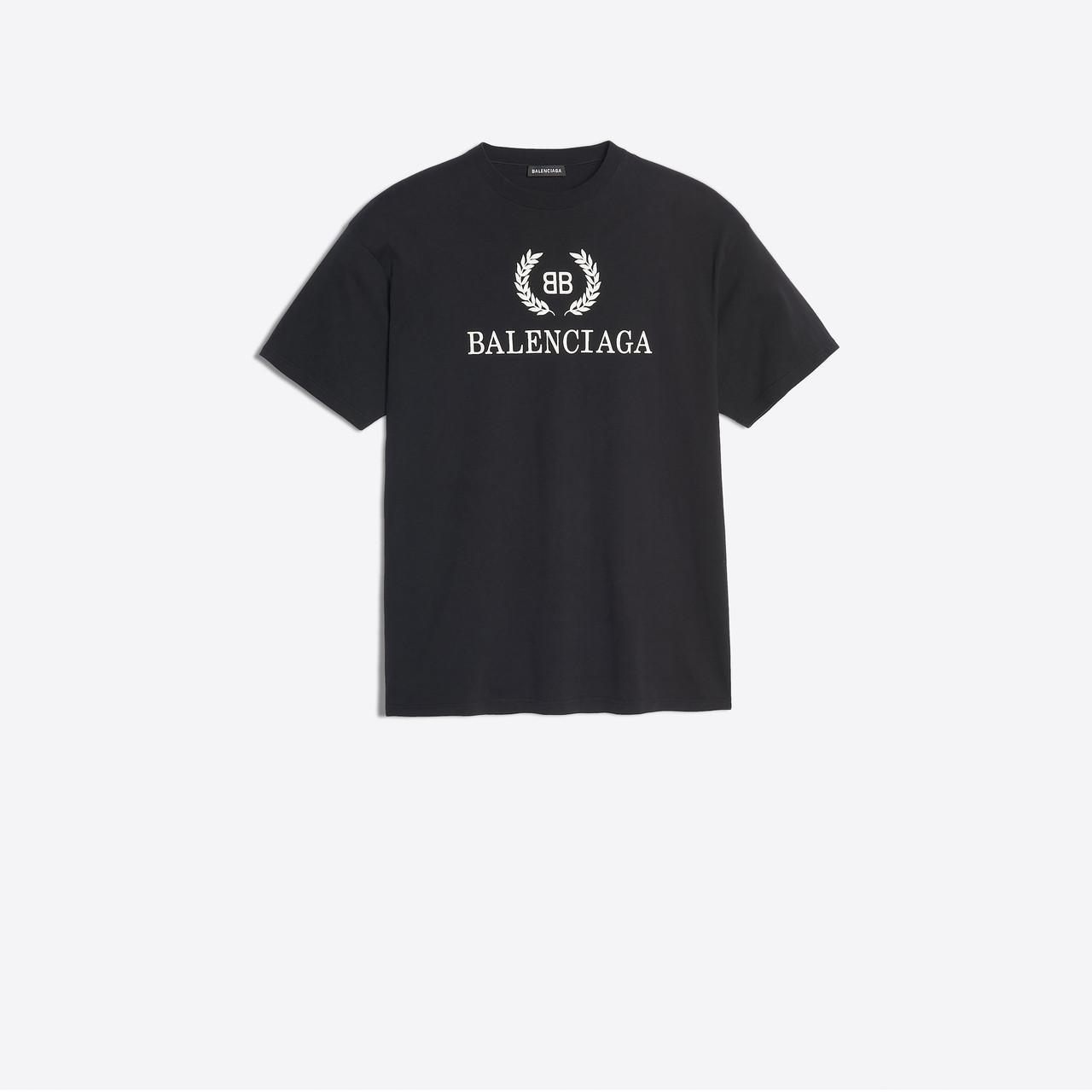 89b20bea9768 Balenciaga - Black Bb T-shirt for Men - Lyst. View fullscreen
