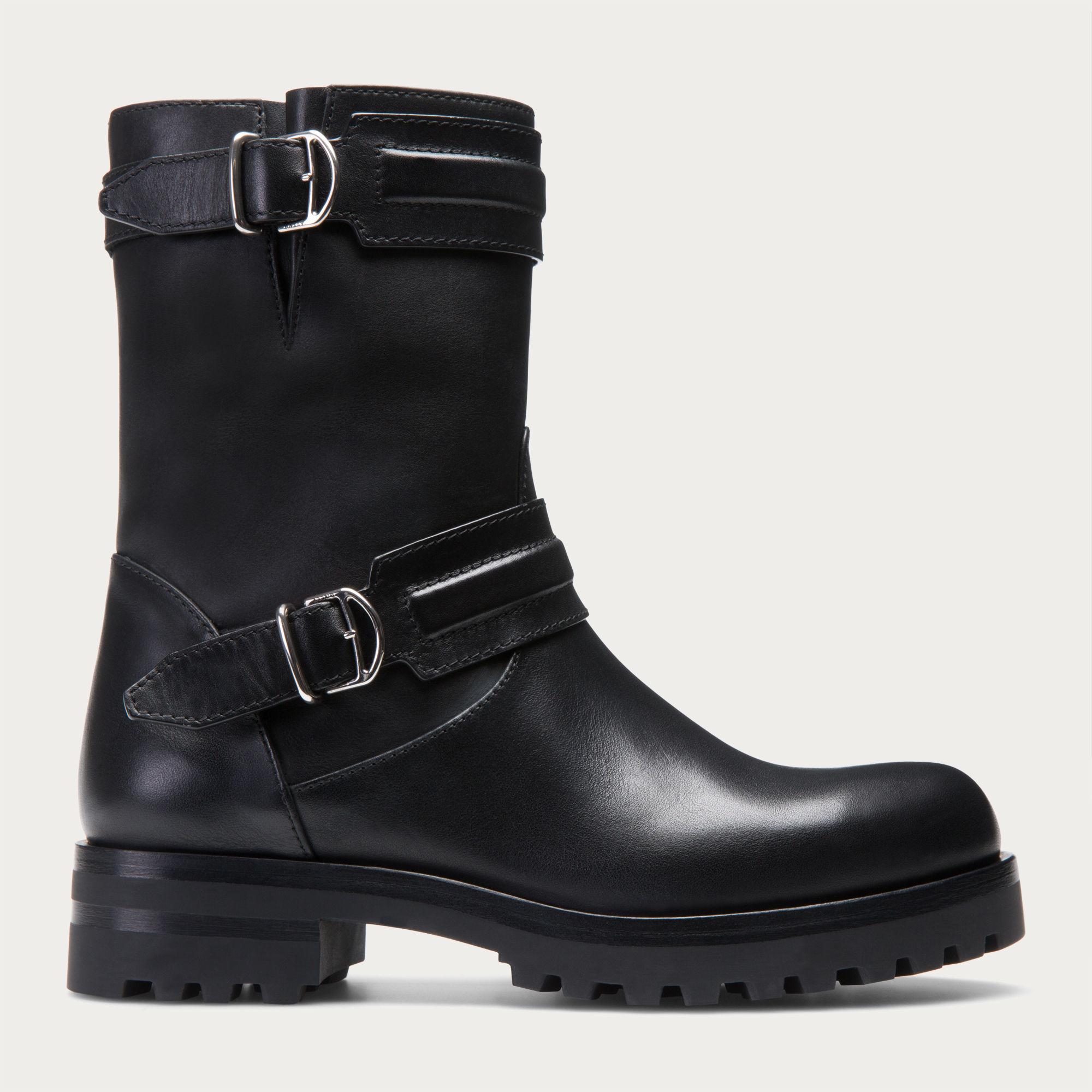 Lyst Bally Beaury Women ́s Leather Biker Boot In Black