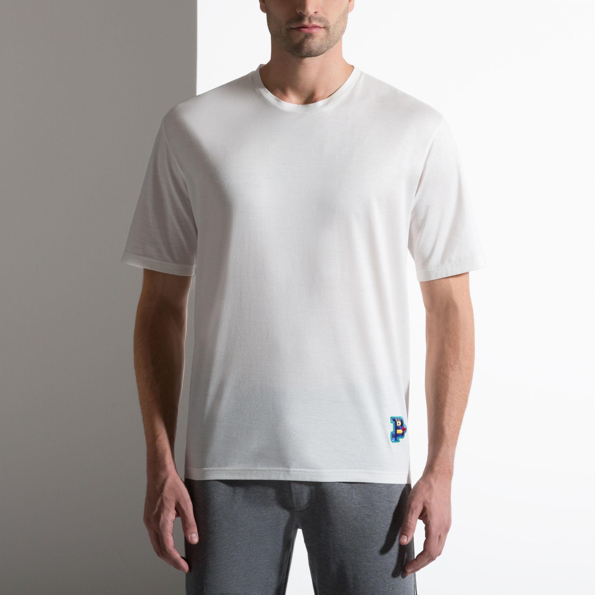 Bally Oversized T Shirt Men S T Shirt In Bone In Black