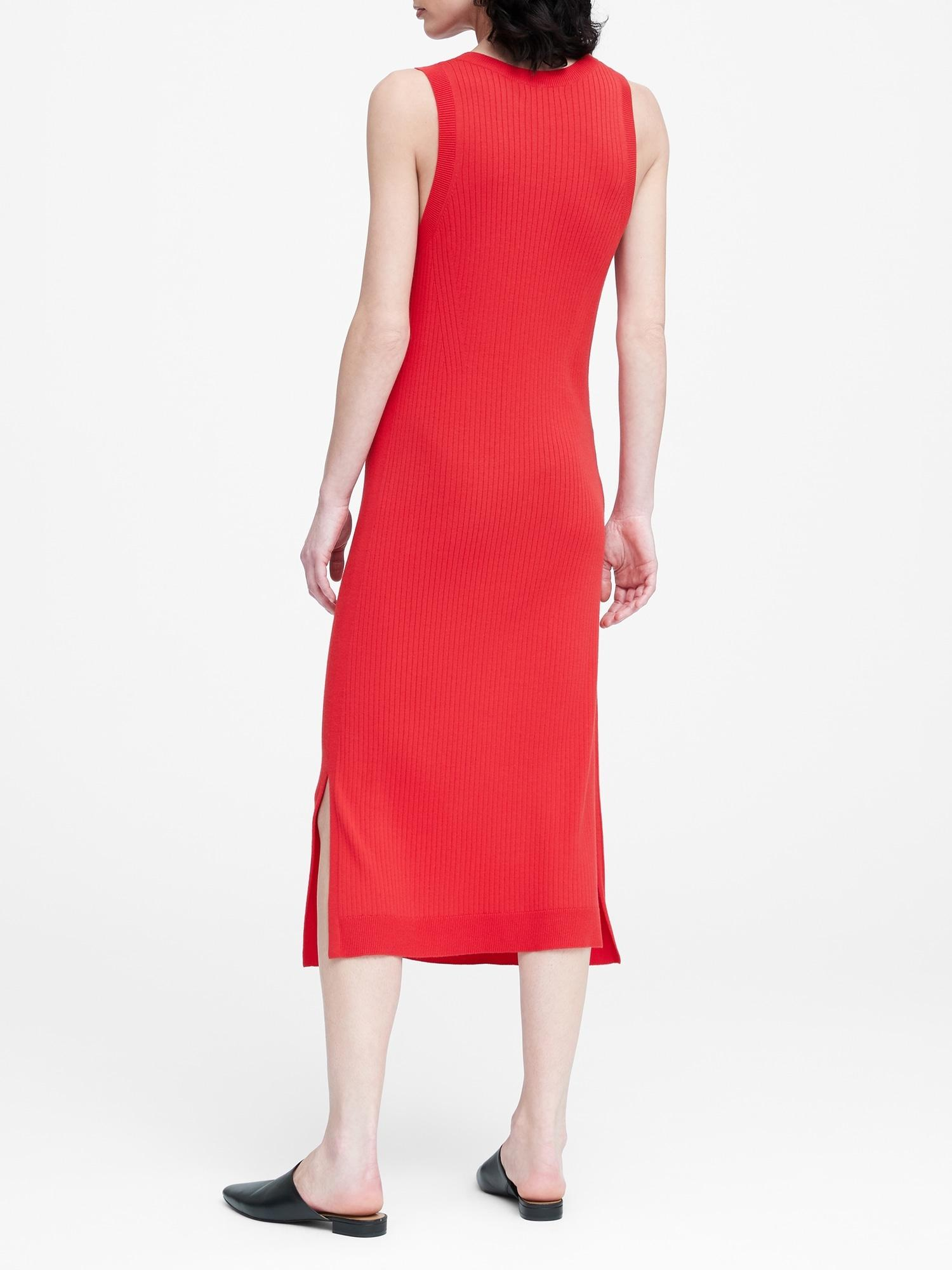2233318e35 Banana Republic Knit Dress in Red - Lyst