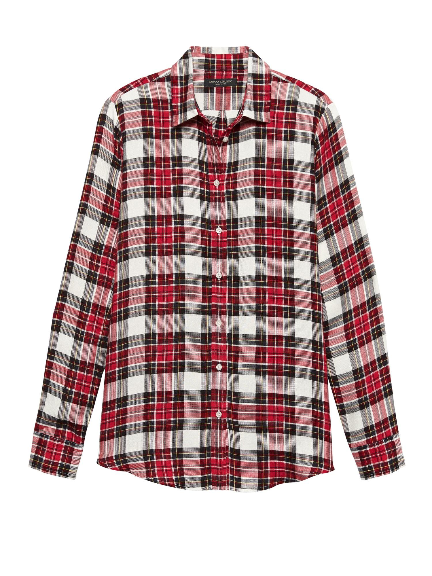 e1f63d7dedc Banana Republic Dillon Classic-fit Tartan Plaid Flannel Shirt in Red ...