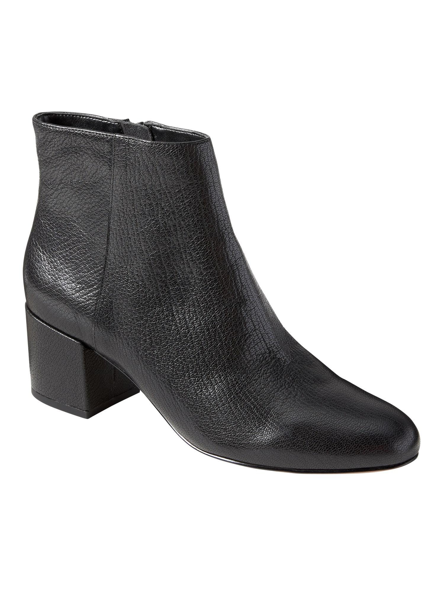 cf11da88666c Lyst - Banana Republic Low Block-heel Bootie in Black - Save 29%