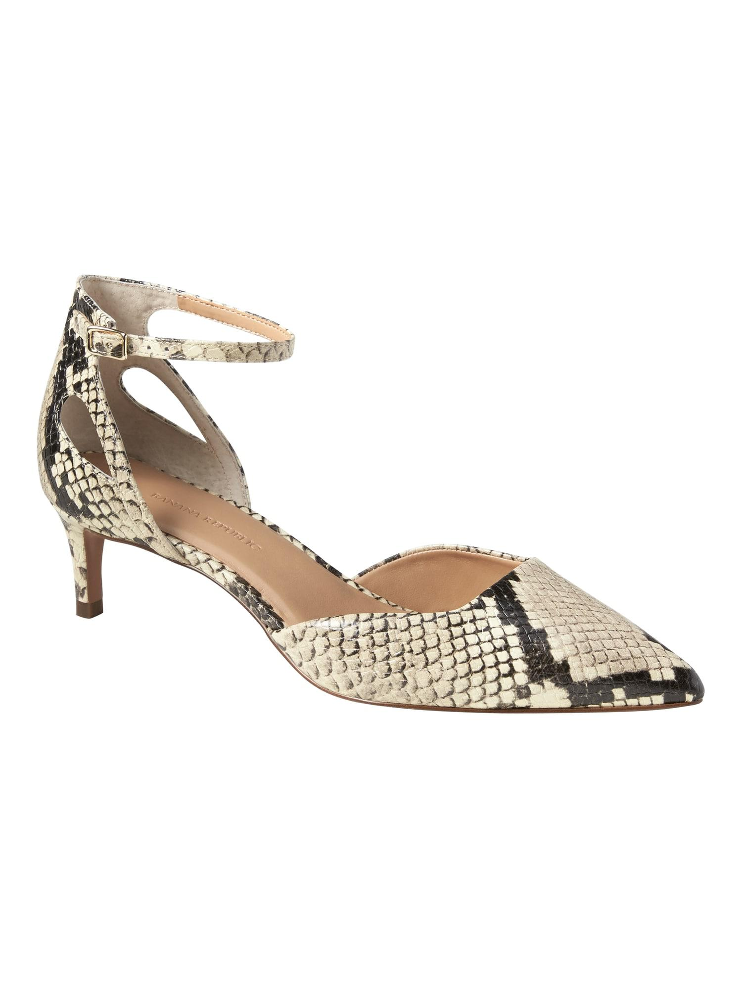 46263adf1188 Lyst - Banana Republic Side Cutout Kitten Heel in Metallic