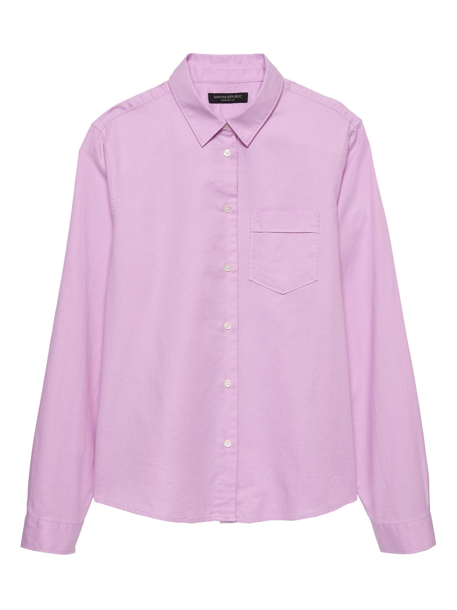 Lyst Banana Republic Petite Quinn Boy Fit Oxford Shirt In Pink For Men
