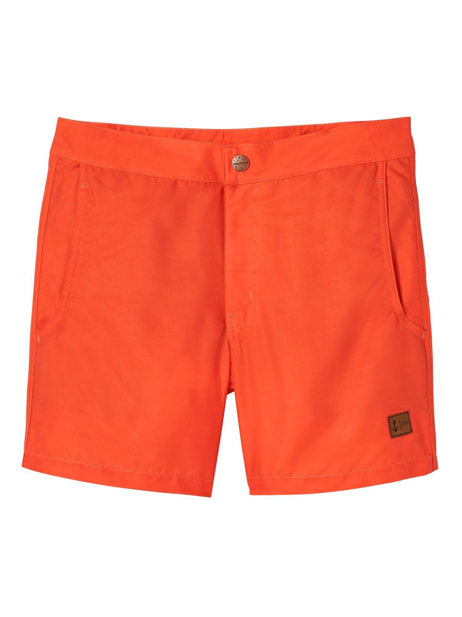 5bb0a69ba8973 Lyst - Banana Republic Retromarine | Solid Swim Short in Orange for Men
