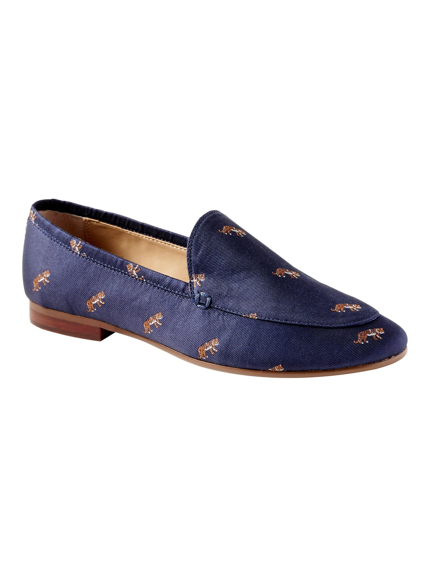 3771dbe25a4 Lyst - Banana Republic Demi Tiger Loafer in Blue