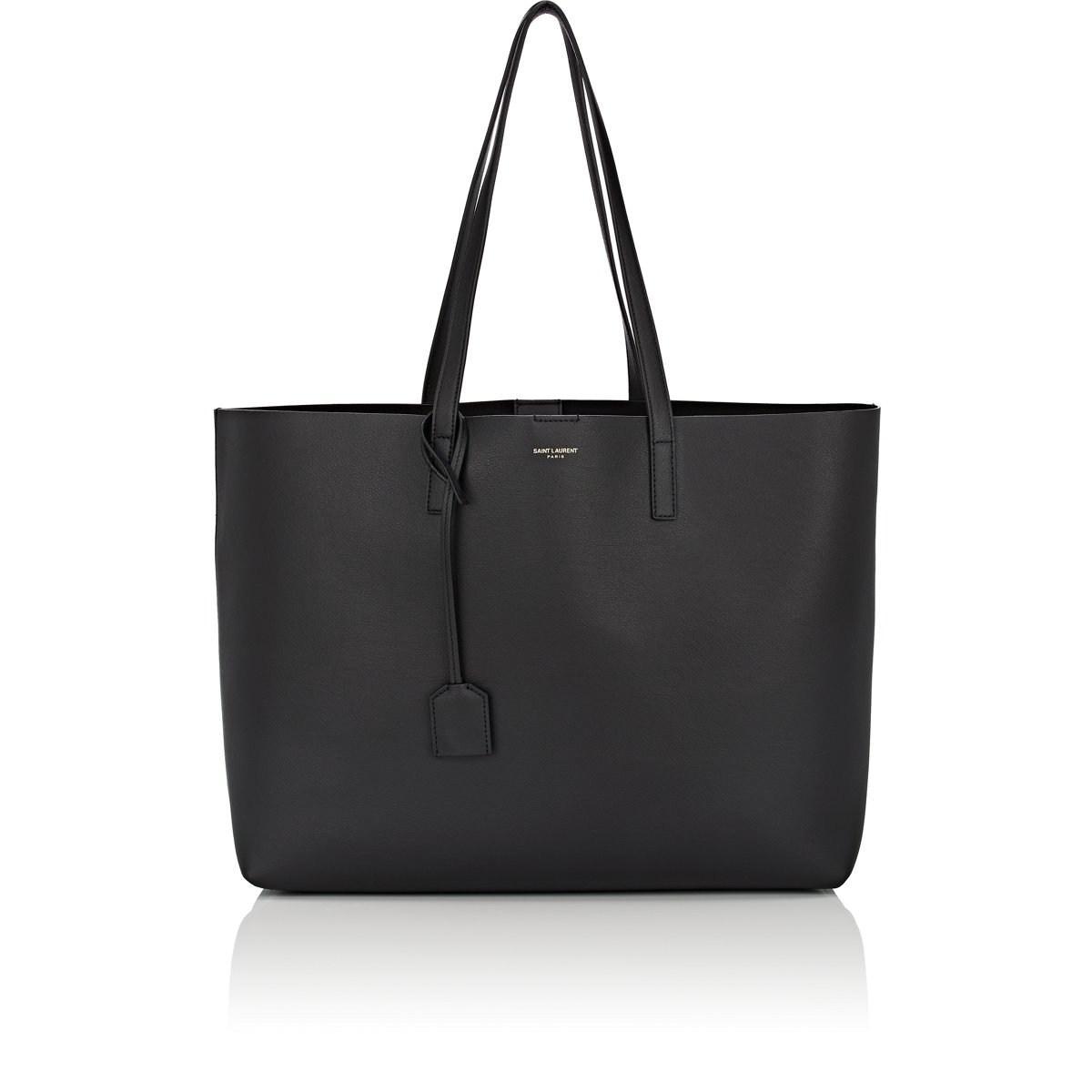 572700770ebb Lyst - Saint Laurent East-west Shopper Leather Tote Bag in Black