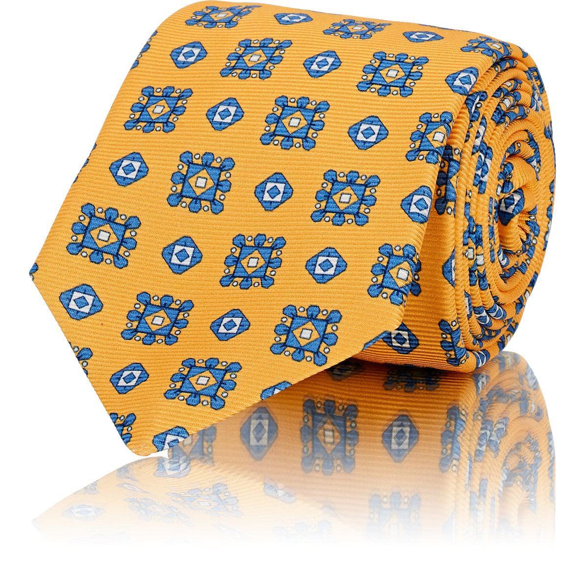 Mens Médaillon En Soie Imprimé Kiton Cravate Reps 3OsR2