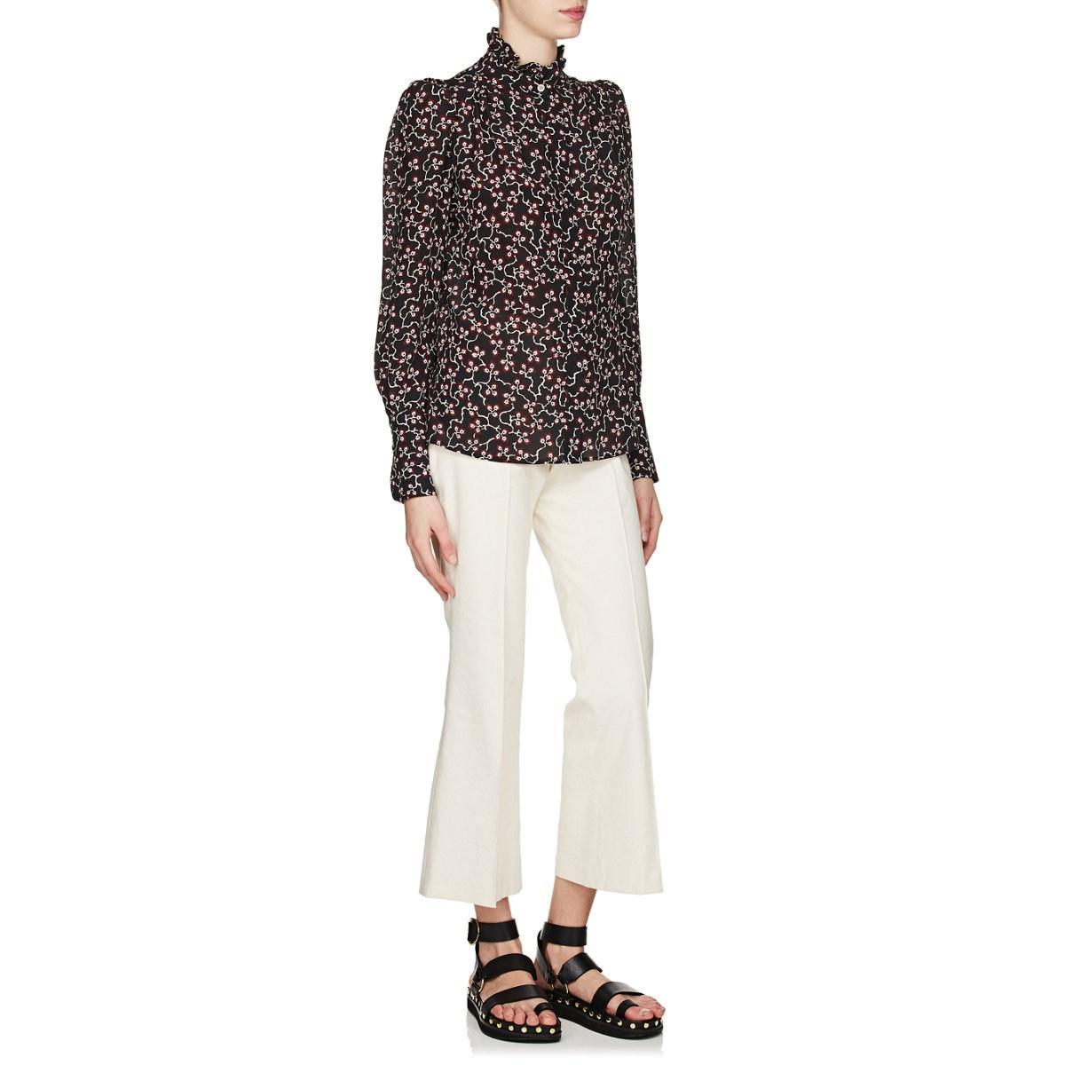 85132e0e2d753 Isabel Marant - Black Lamia Silk Crêpe De Chine Blouse - Lyst. View  fullscreen