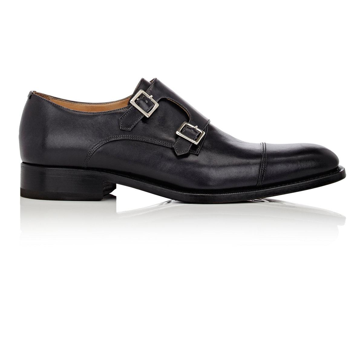 Mens Stitch-Detail Monk-Strap Shoes Harris v5xhi