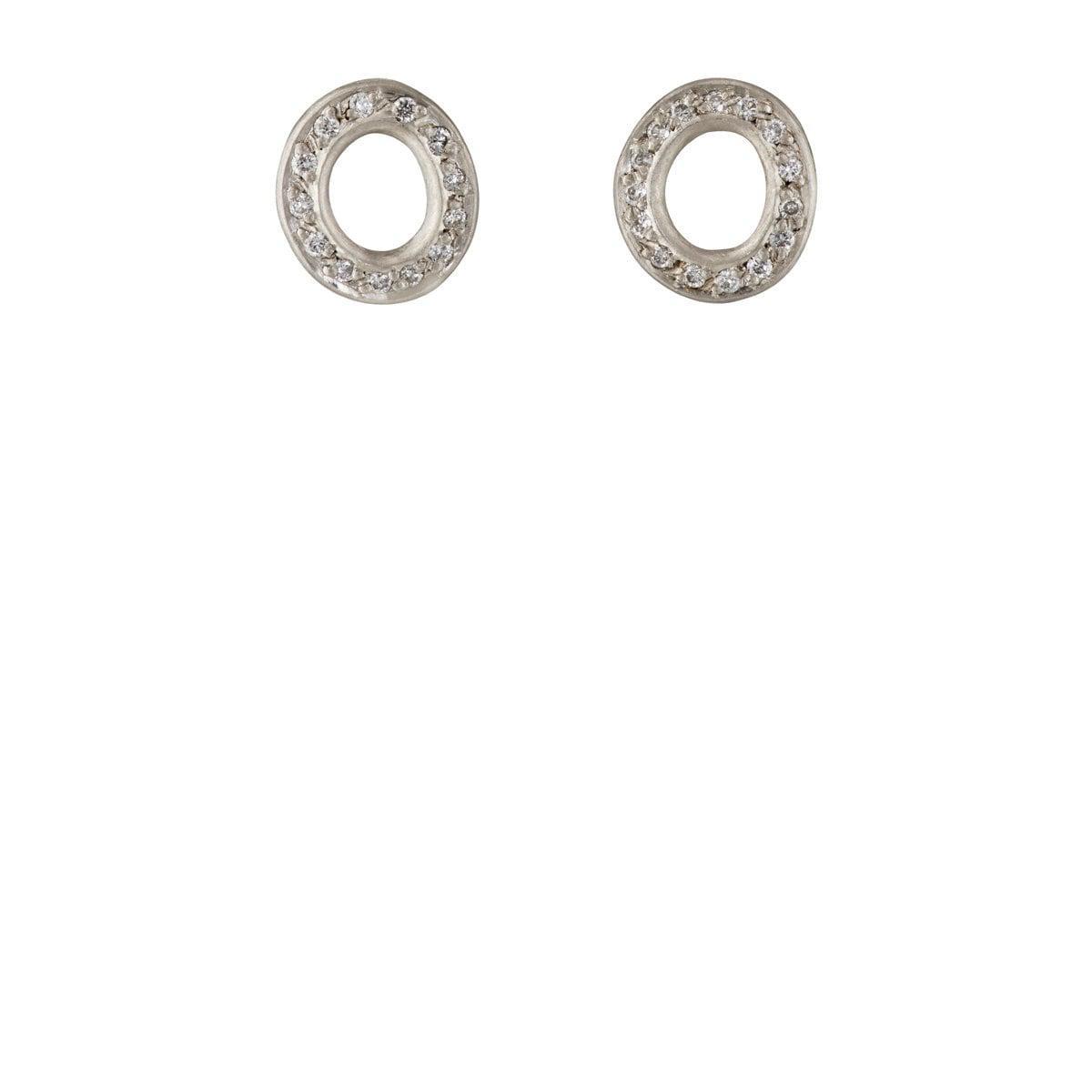 Malcolm Betts Womens Open Disc Stud Earrings dLPyjLQzS