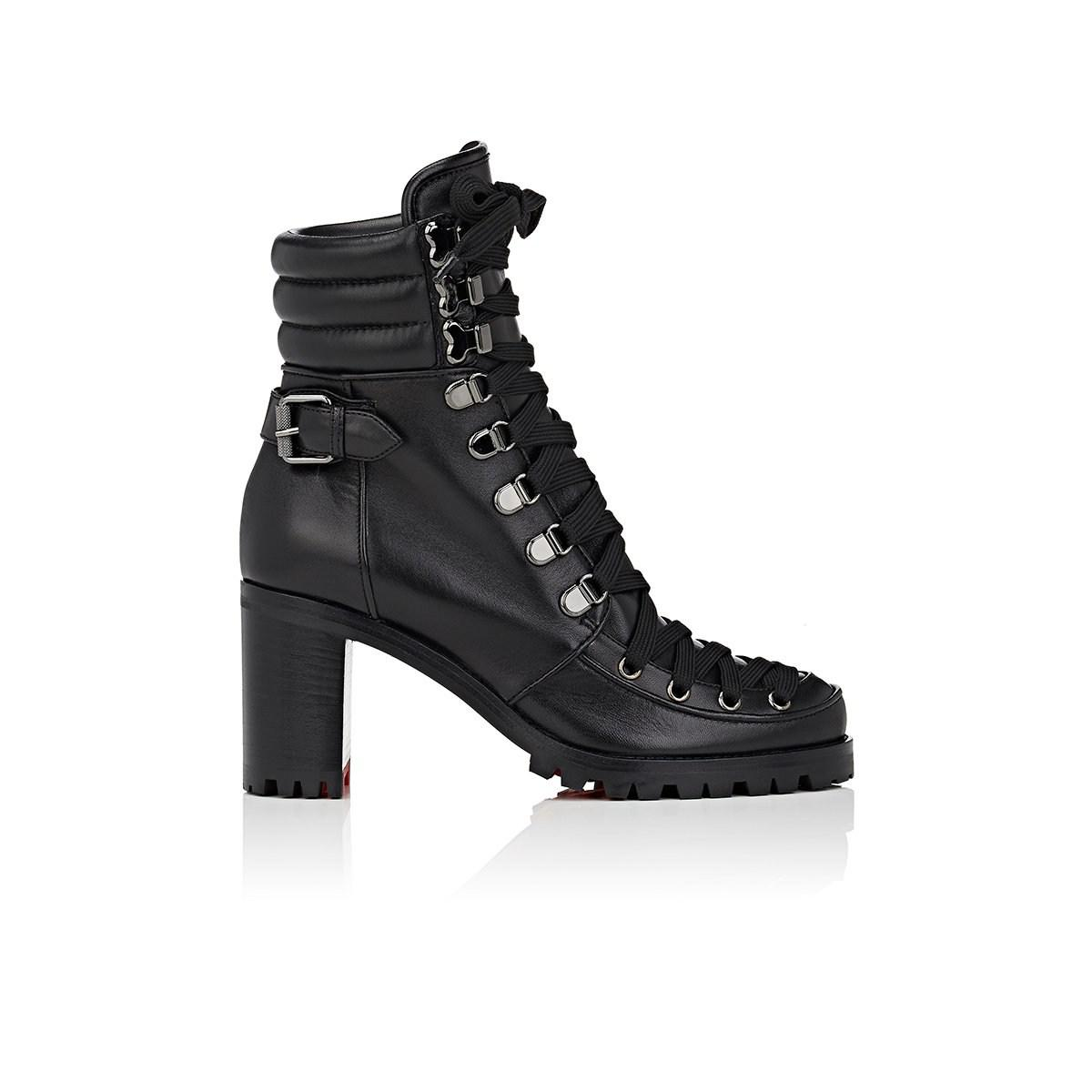 8496ef1e982b ... switzerland christian louboutin. womens black who runs leather ankle  boots 07edb b44fb ...