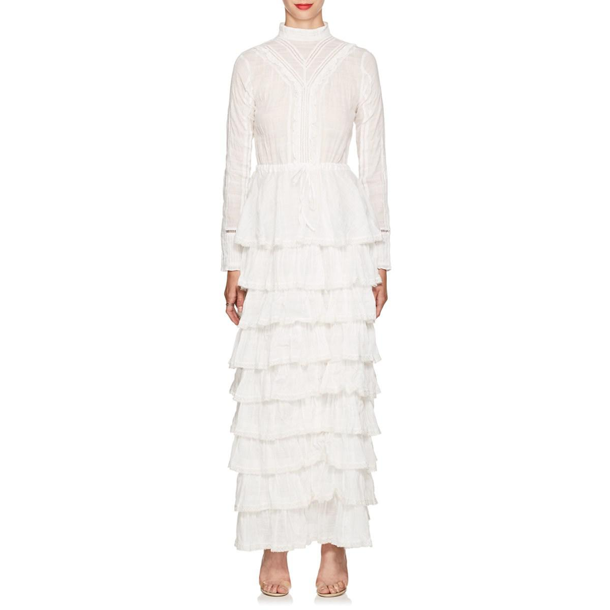7cdf35be180 Lyst - Sir. The Label Lucille Embroidered Cotton Maxi Dress in White ...