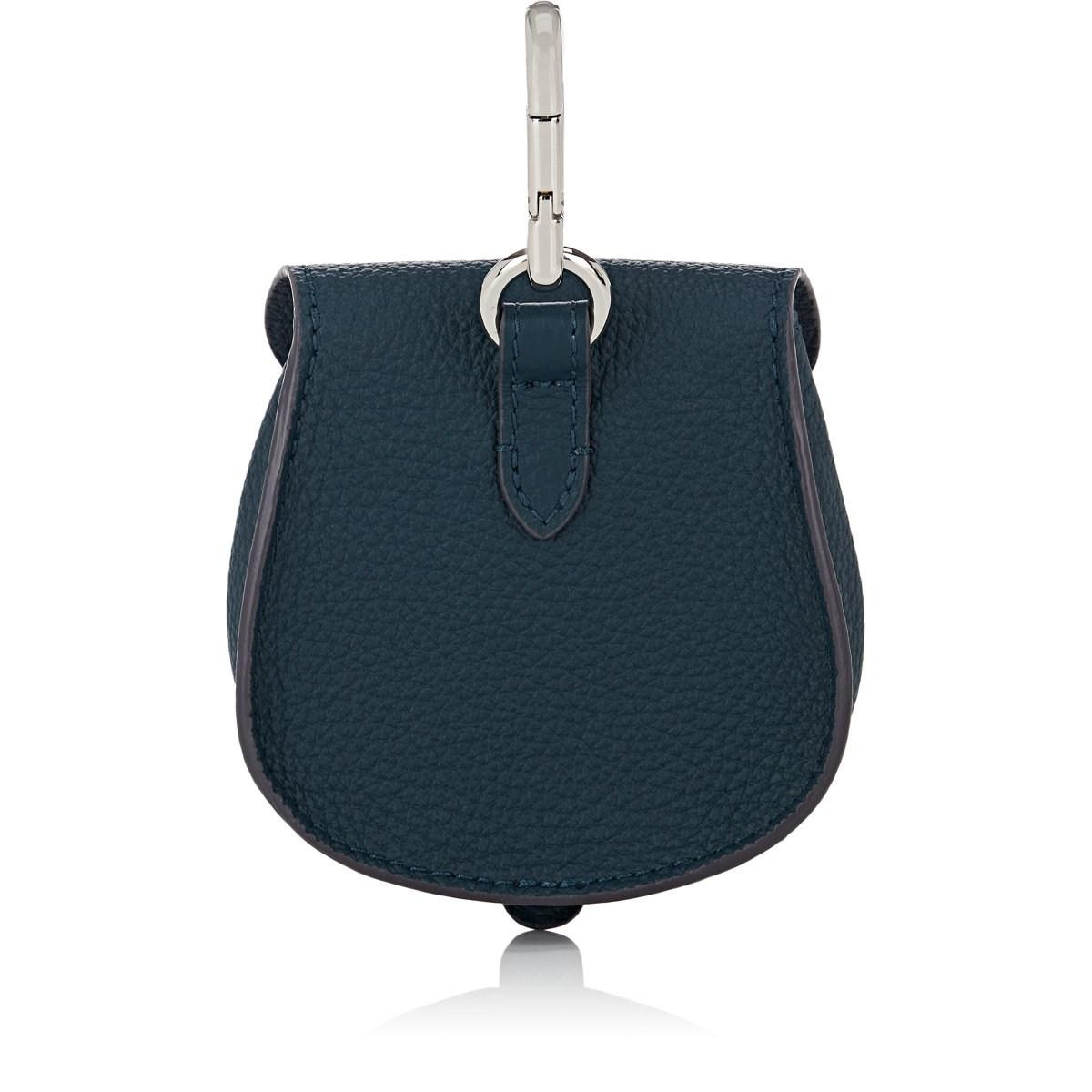 85231be9f8e Lyst - Fontana Milano 1915 Mimosa Mini Leather Pouch Bag Charm in Blue
