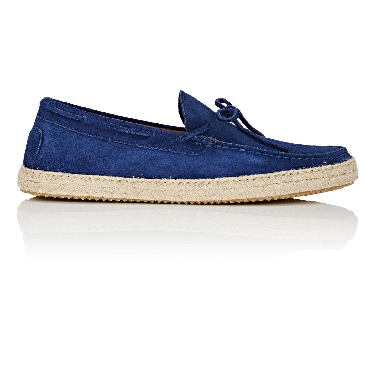 Mens Suede Espadrille Drivers Barneys New York JQ098