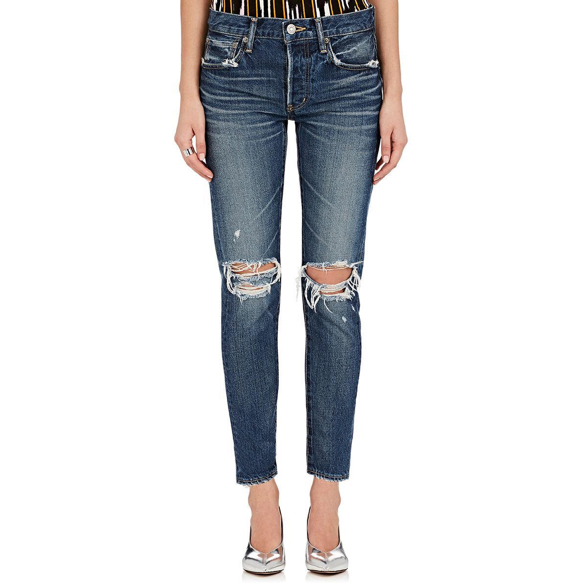 Womens Latrobe Distressed Tapered Jeans Moussy 2lzKj