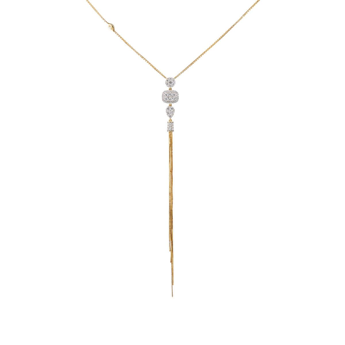 Sara Weinstock Womens Nappa Tassel Necklace