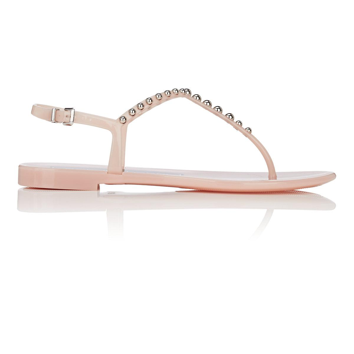 2014 new sale online free shipping Sergio Rossi Studded PVC Thong Sandals j1uS2n1