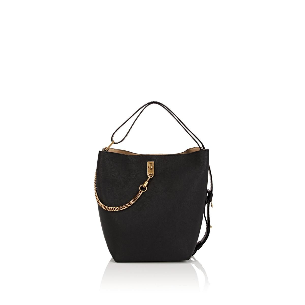 d99fdfb87e38 Givenchy Gv Leather Bucket Bag in Black - Lyst