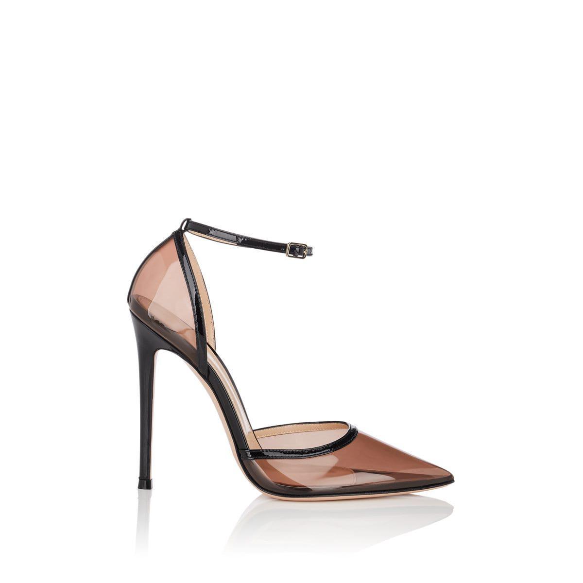 9d6c93c9d81 Lyst - Gianvito Rossi Sabin Pvc   Patent Leather Ankle-strap Pumps ...