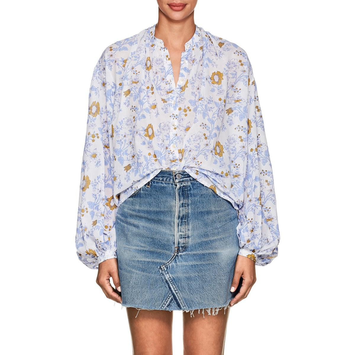 Womens Slava Floral Cotton Blouse Thierry Colson For Sale For Sale Buy Cheap Low Shipping Fee Explore Cheap Online Release Dates Authentic wOp4v