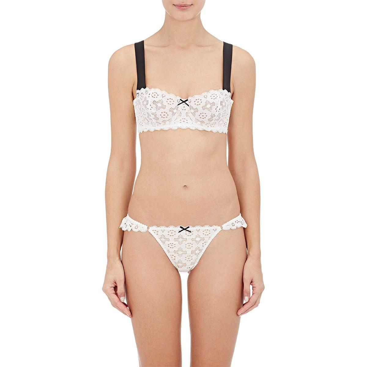 e341cd12c4c34 Fleur du Mal Crochet Lace Balconette Bra in White - Lyst