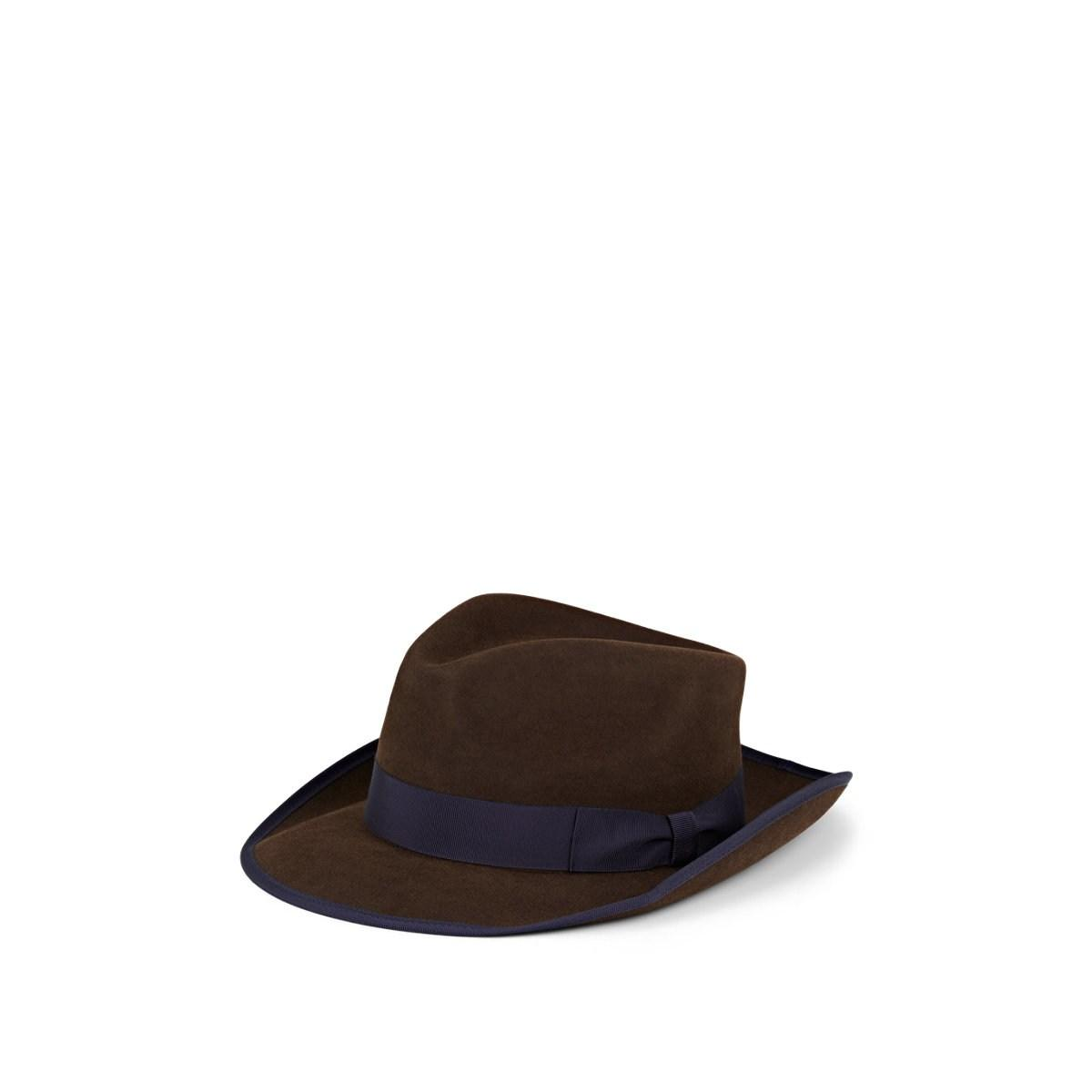 8a7382537a7ae0 Lyst - Lock & Co Pickering Rabbit Fur Felt Trilby in Brown for Men