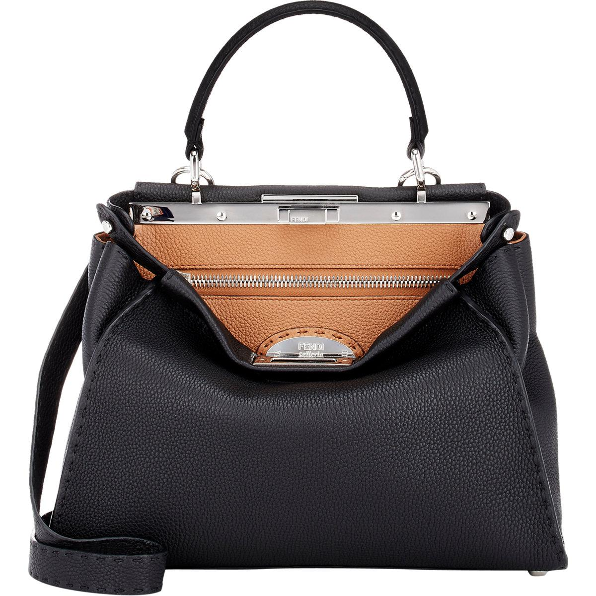 8926347803 Lyst - Fendi Selleria Peekaboo Satchel in Gray
