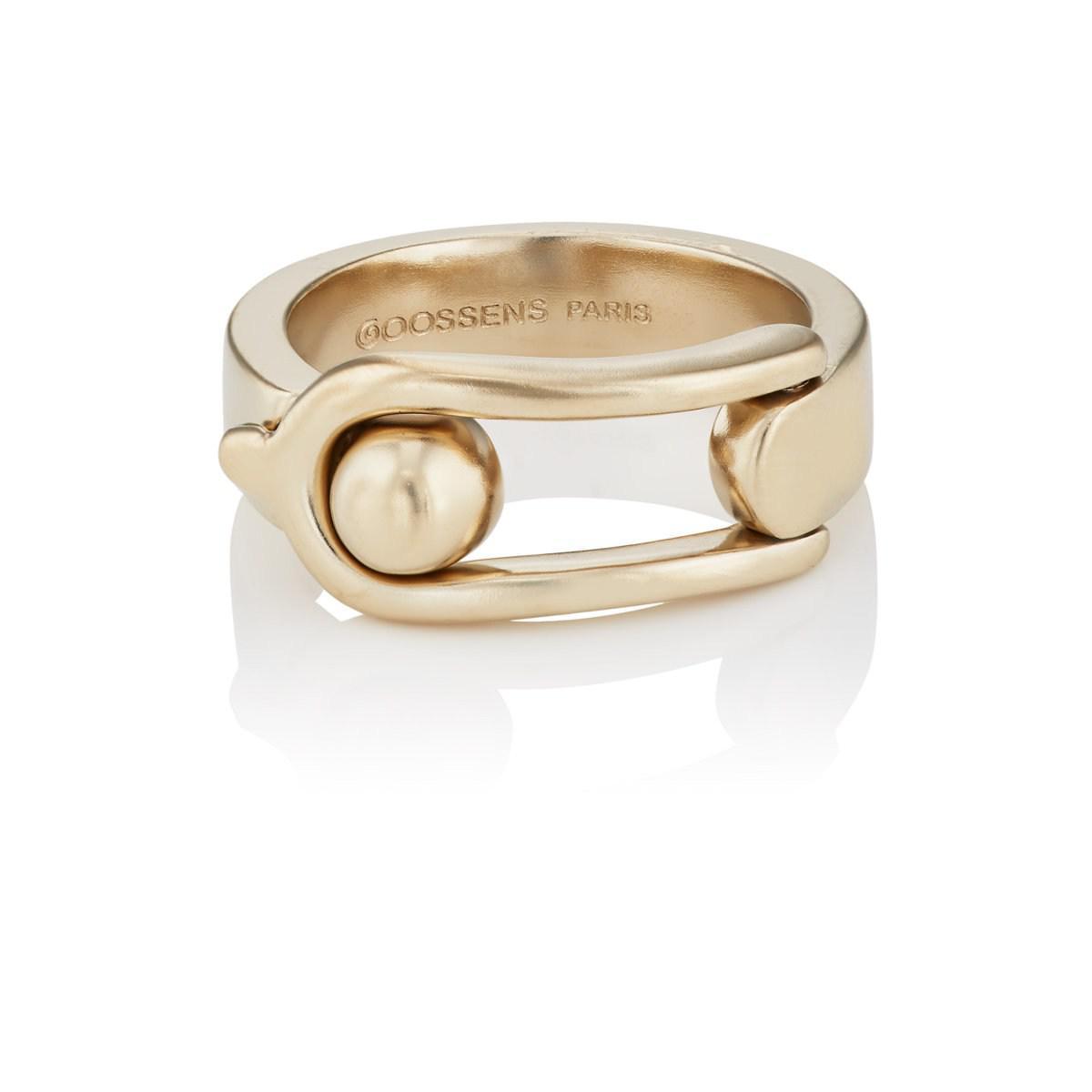 Goossens Paris Womens Boucle Ring QSz8Xms