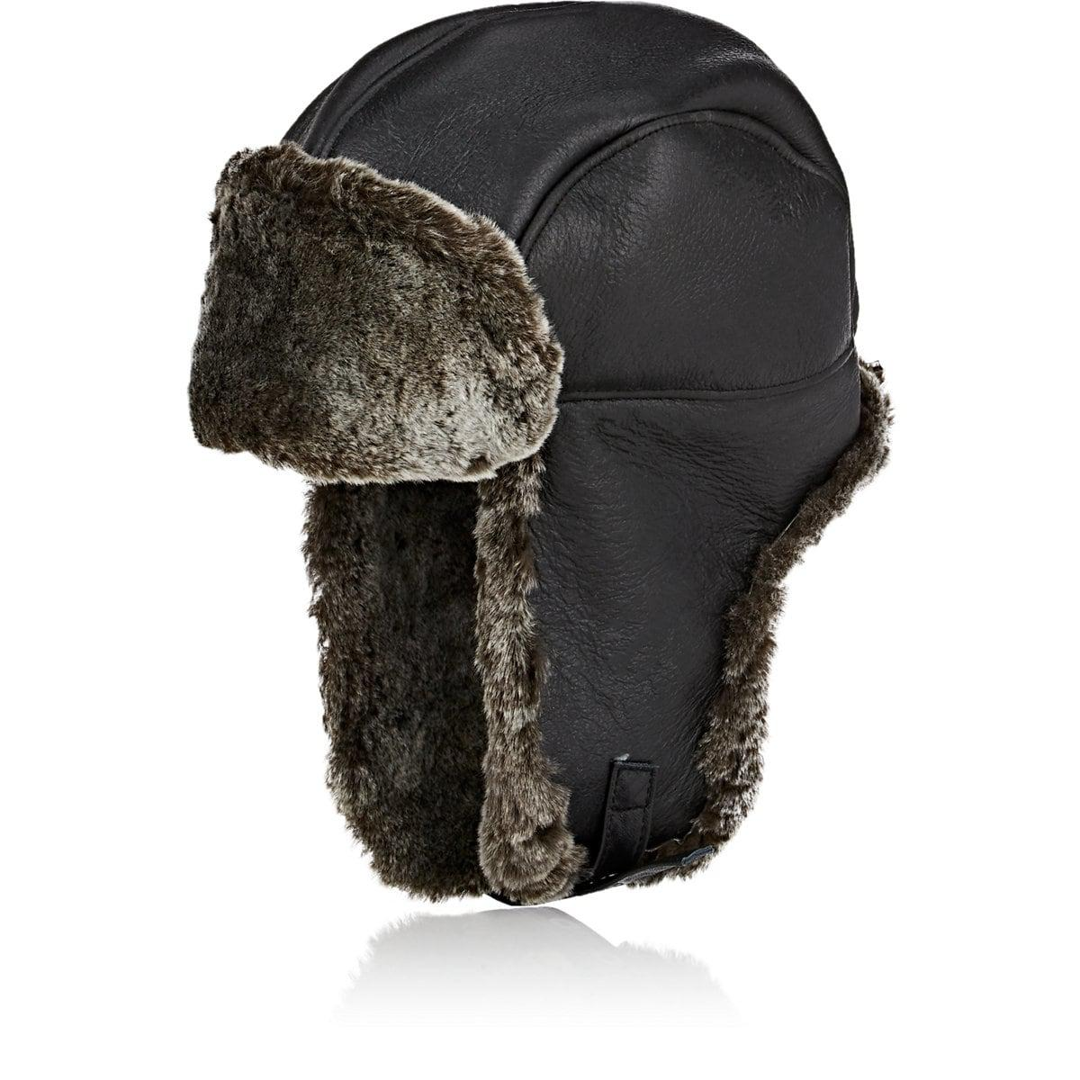 a8410d079e0e7 Crown Cap Shearling Aviator Hat in Black for Men - Lyst