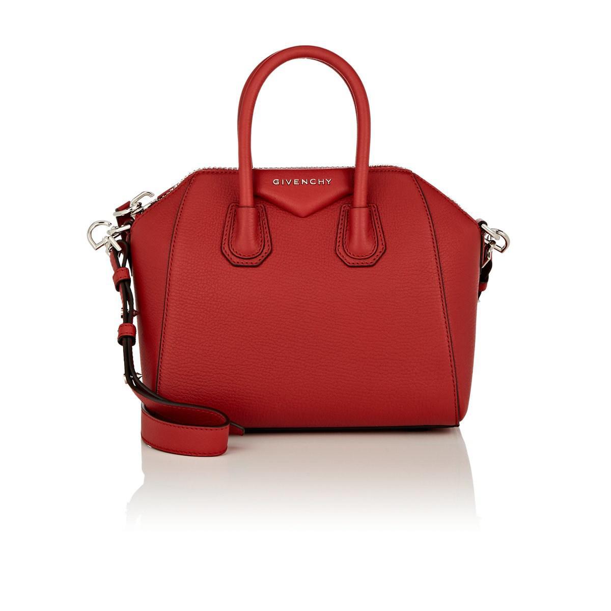 Givenchy - Antigona Mini Textured-leather Tote Red One Size - Lyst. View  fullscreen 3531388731112