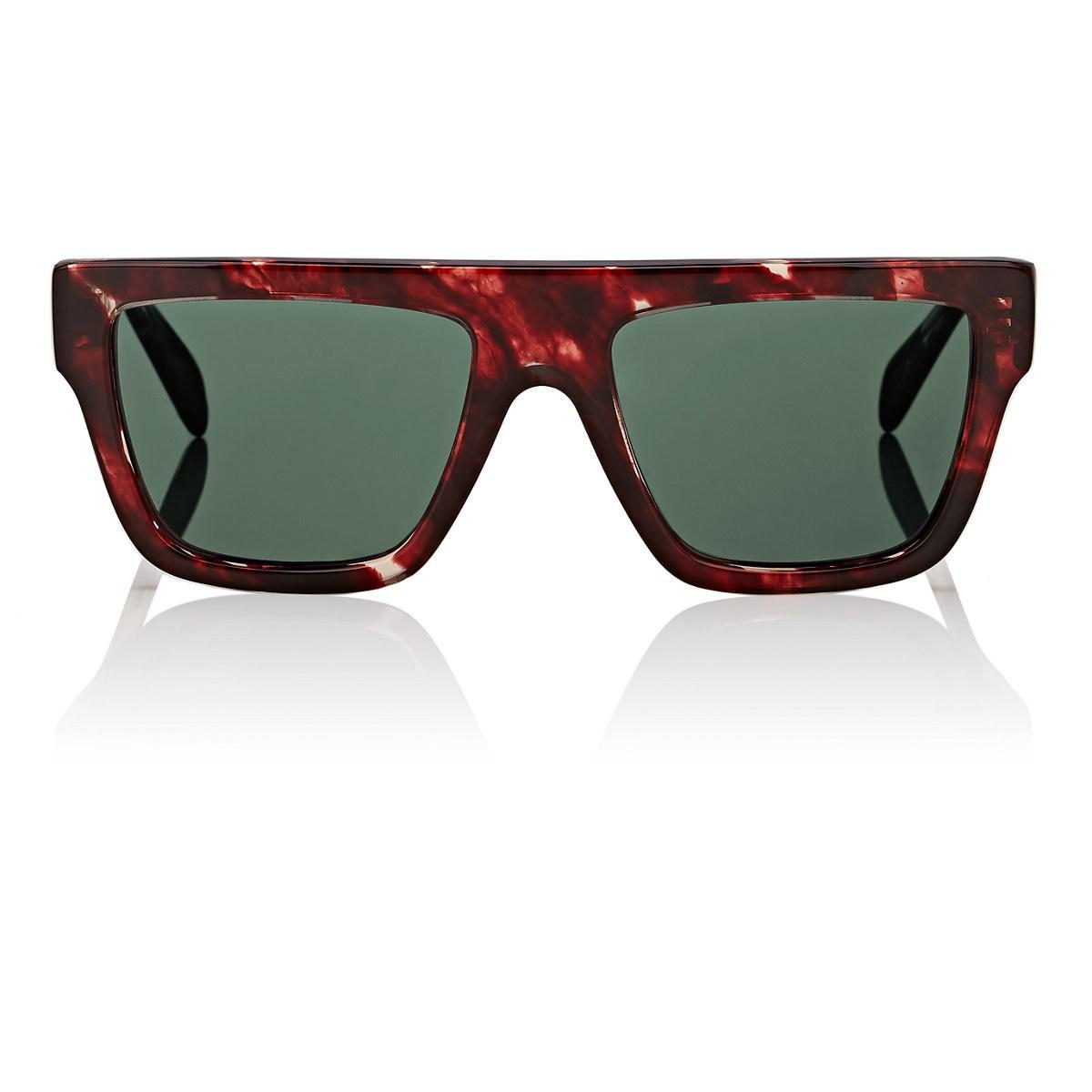 5b72d7fca06 Lyst - Céline Rectangular Aviator Sunglasses in Green