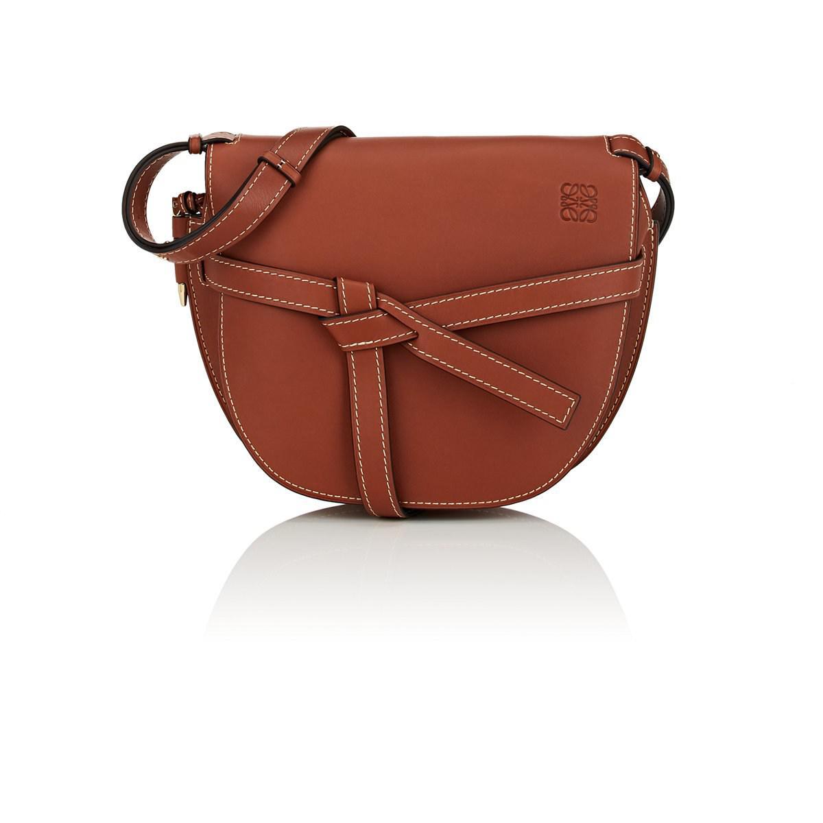 Lyst - Loewe Gate Large Leather Shoulder Bag in Brown 21590876c90b7