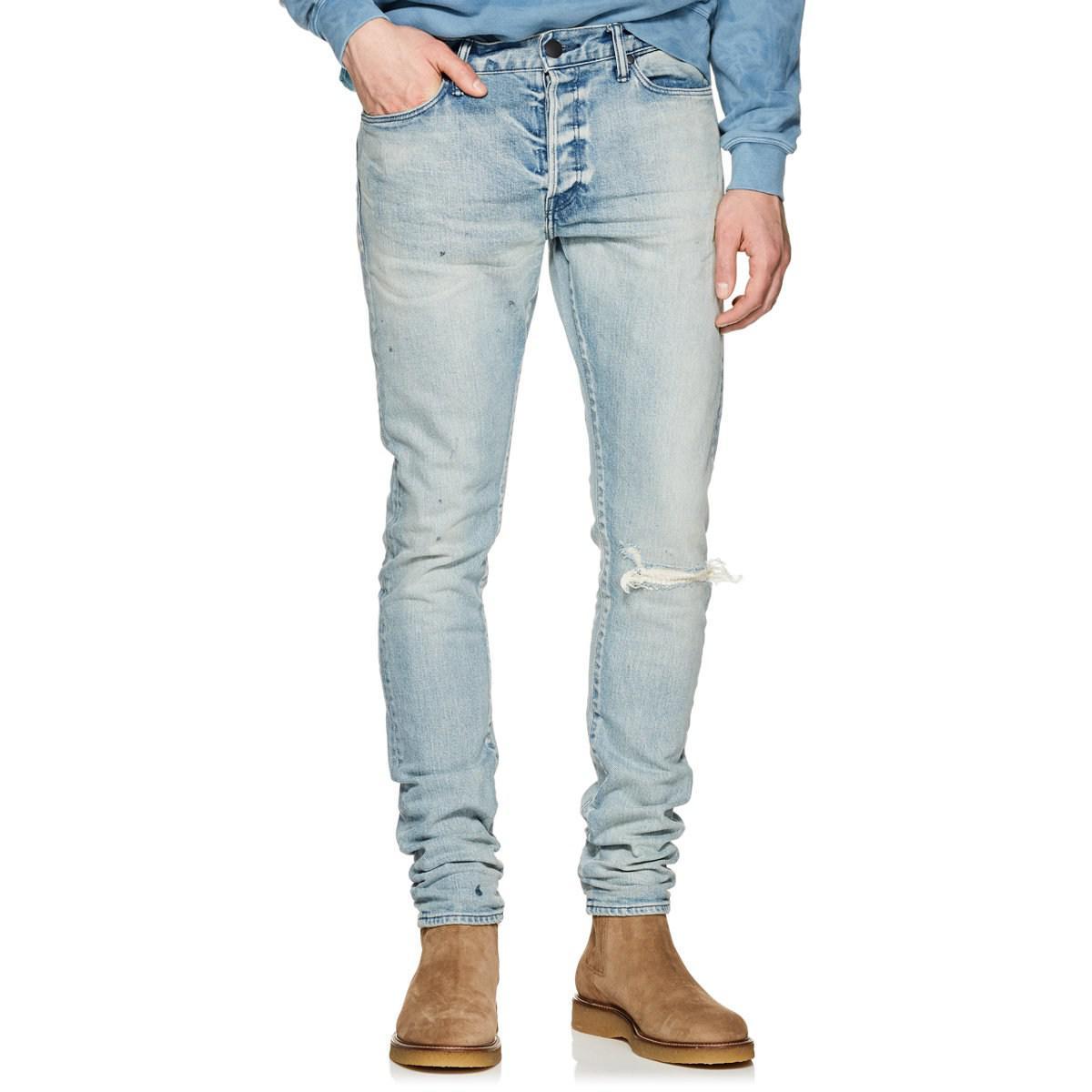 d4b6afe4 Lyst - John Elliott Cast 2 Distressed Slim Jeans in Blue for Men