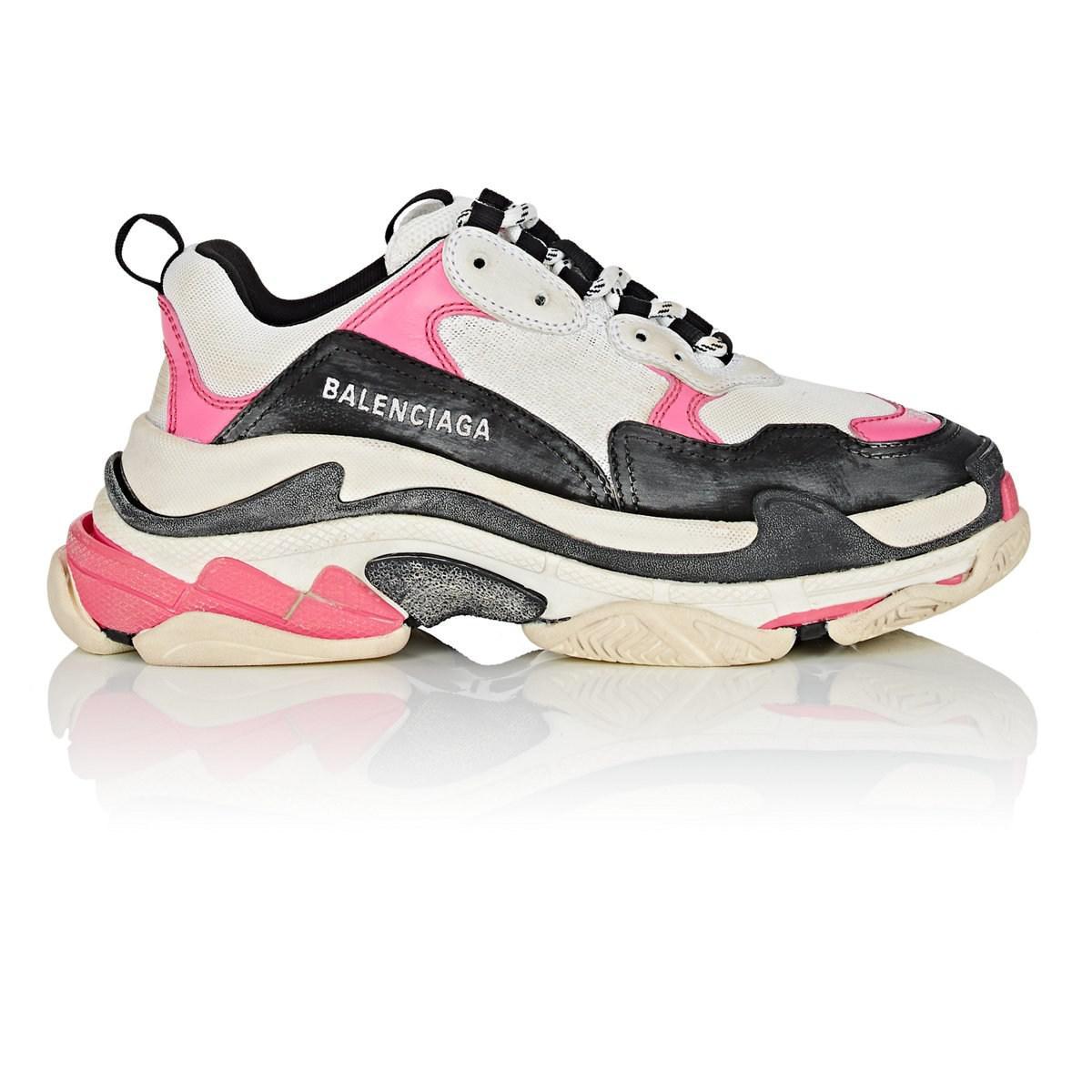 563670bce04f Lyst - Balenciaga Triple S Sneakers in Pink