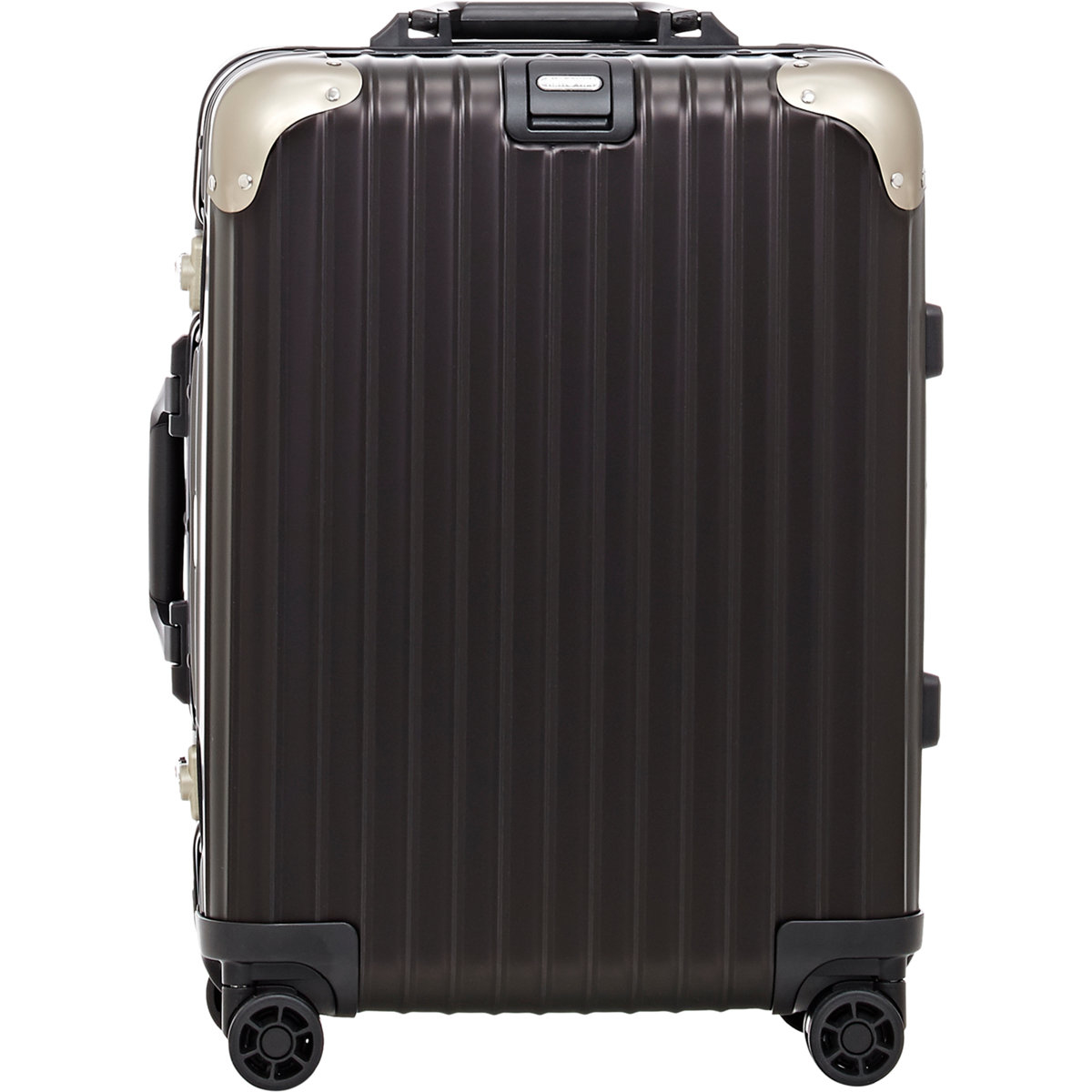 rimowa men 39 s topas stealth 22 cabin multiwheel iata suitcase in black for men lyst. Black Bedroom Furniture Sets. Home Design Ideas