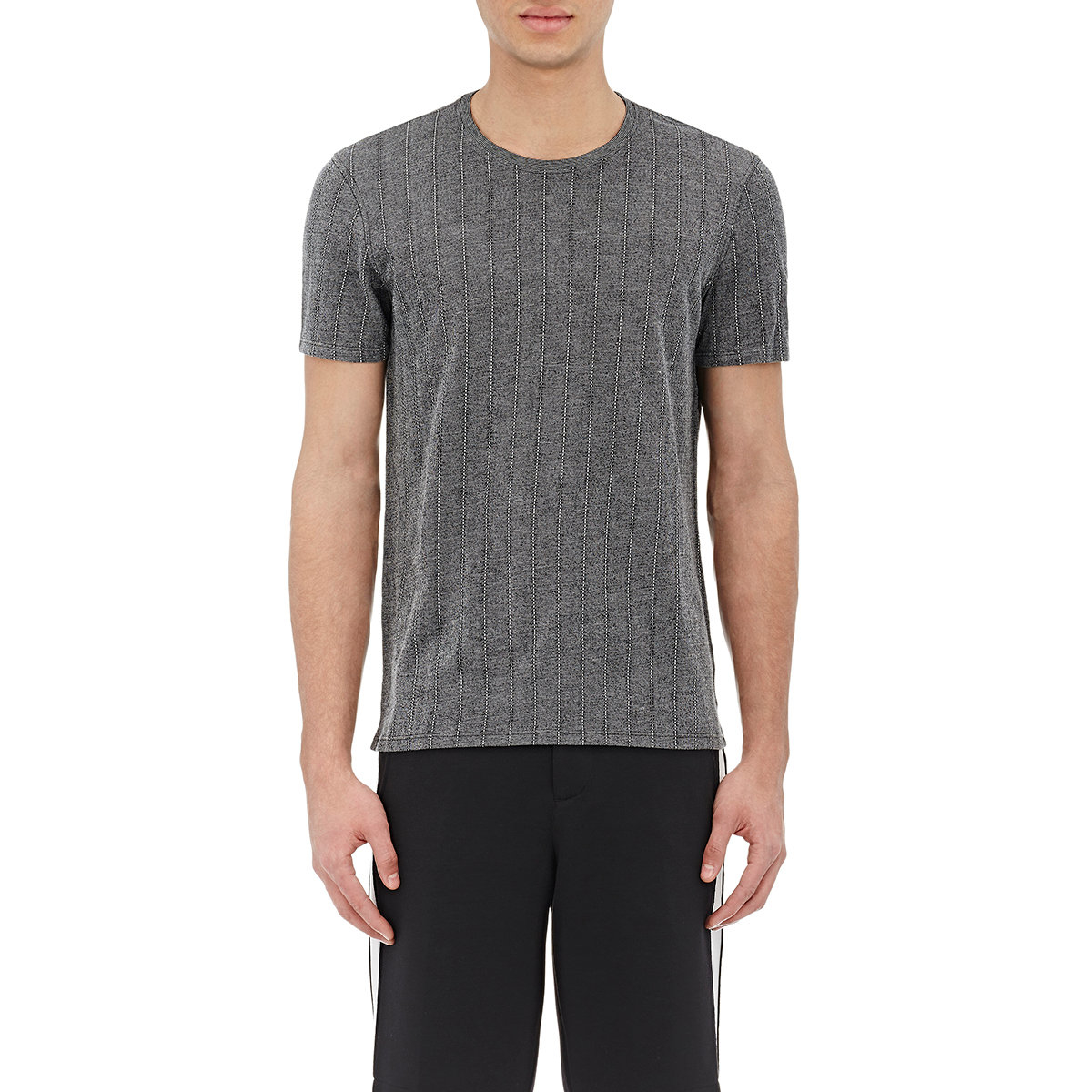 Lyst atm striped t shirt in black for men for Atm t shirt sale