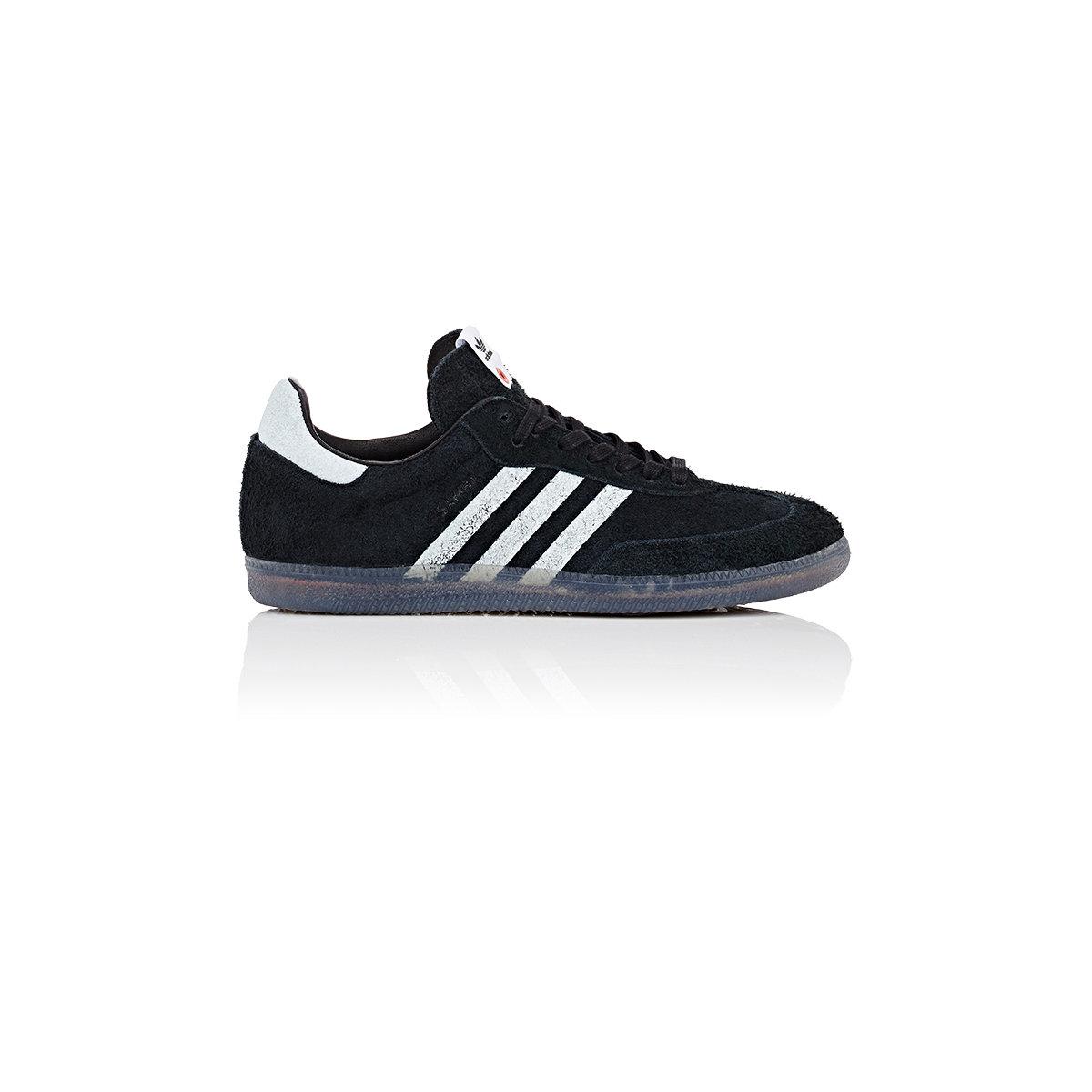 lyst adidas originals samba suede sneakers in black for men. Black Bedroom Furniture Sets. Home Design Ideas