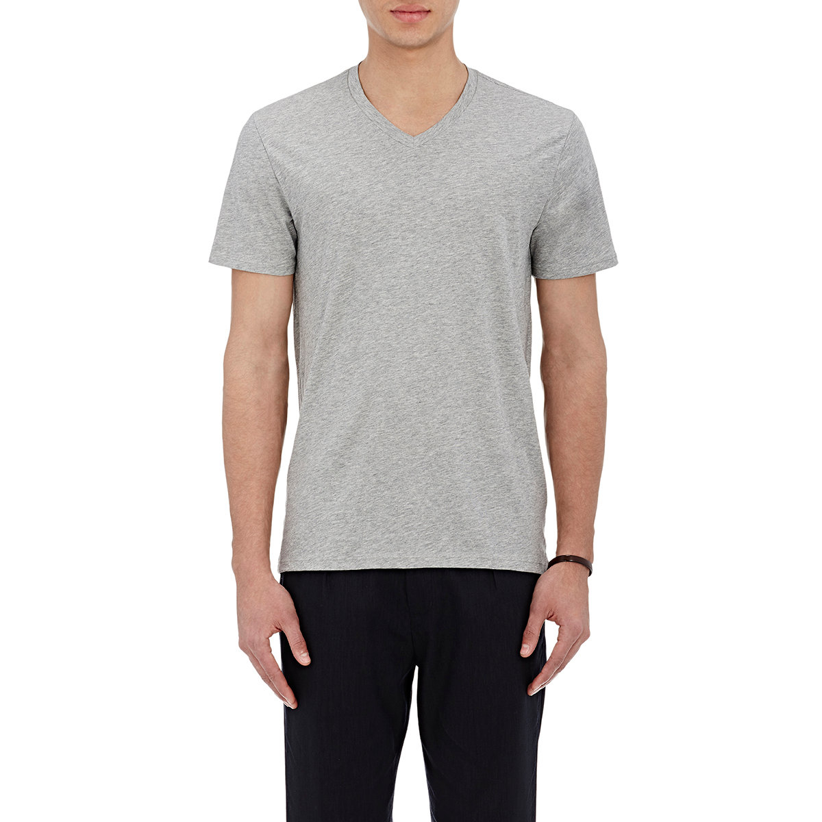 Vince men 39 s jersey v neck t shirt in gray for men grey for Vince tee shirts sale