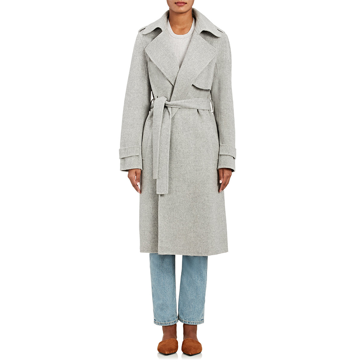 45e2dbe6da7 Theory Oaklane Wool-cashmere Coat in Gray - Lyst
