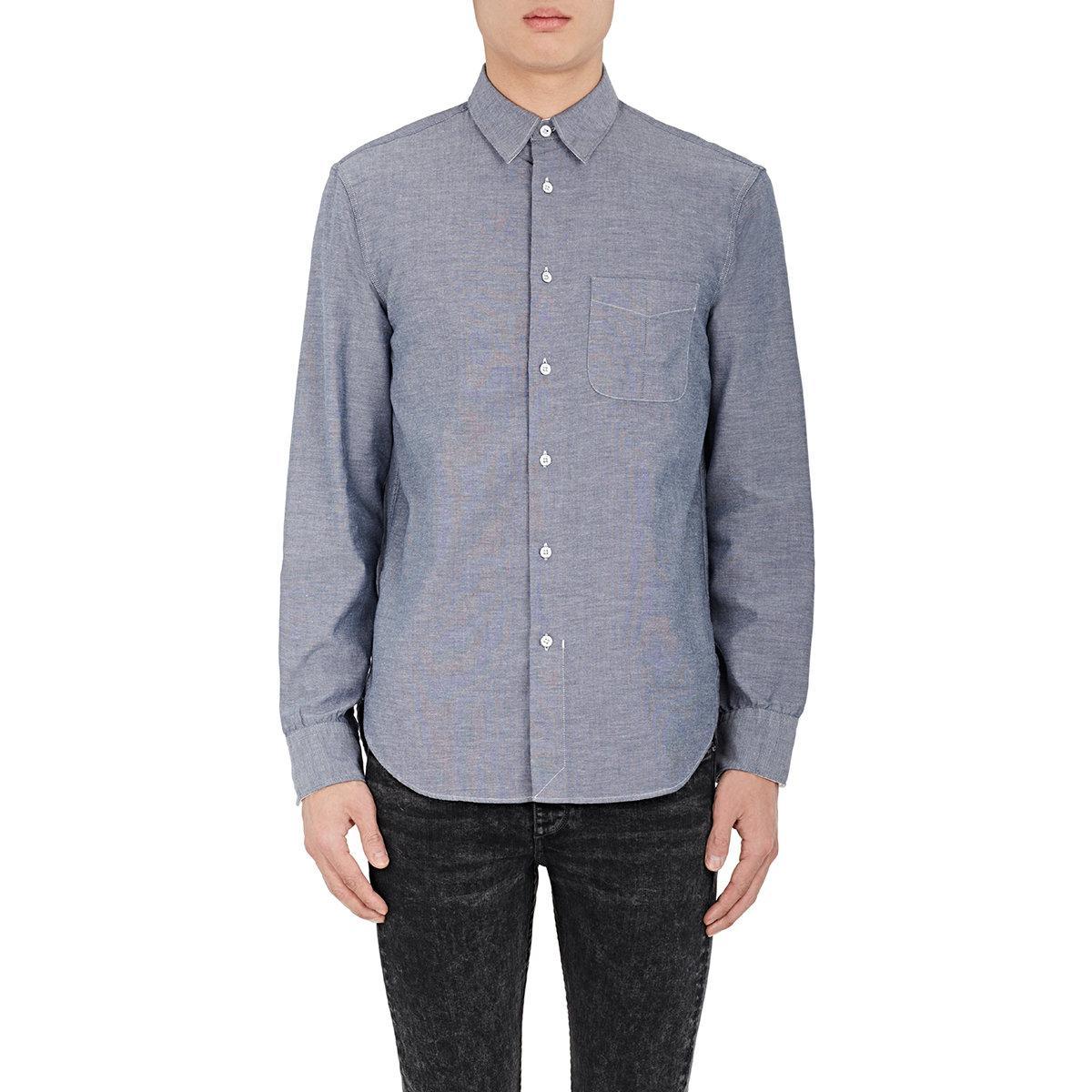 Lyst rag bone beach cotton gauze shirt in blue for men for Long beach ny shirts