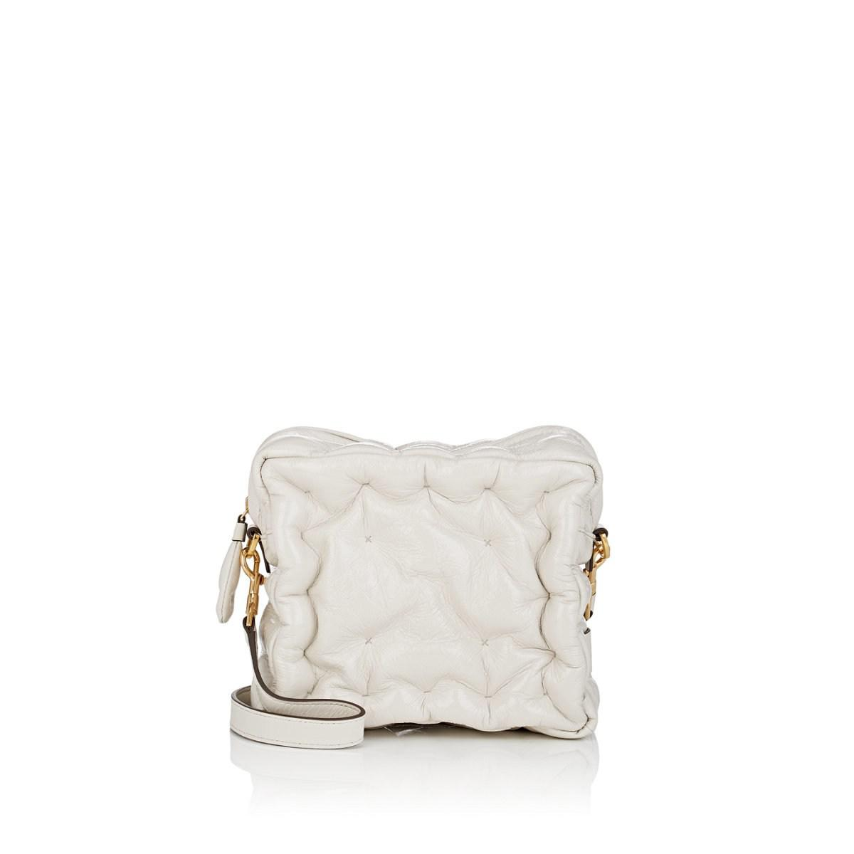 4a495a8f739f Anya Hindmarch Chubby Patent Leather Crossbody Bag in White - Lyst