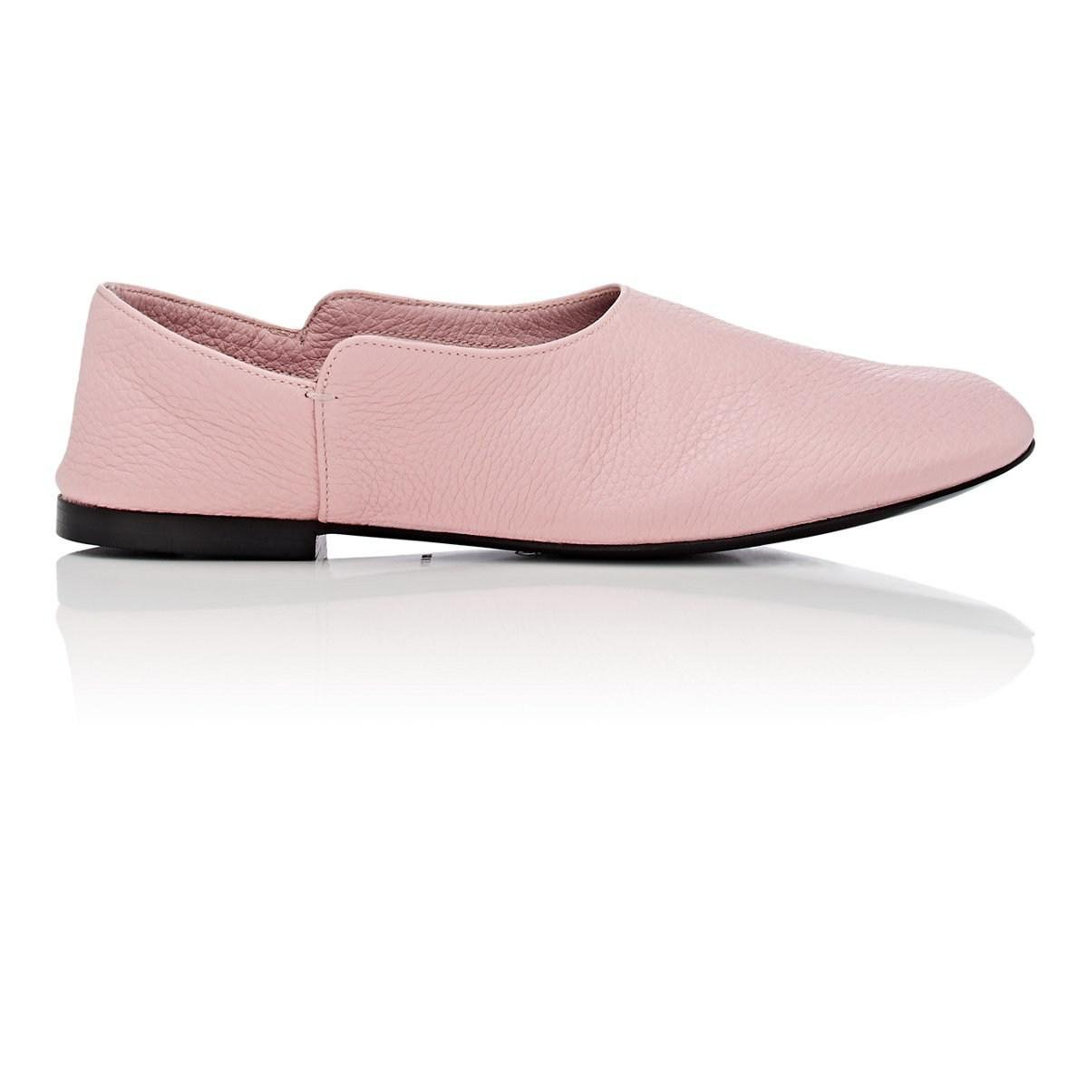 7659dd8368e Lyst - The Row Boheme Leather Loafers in Pink