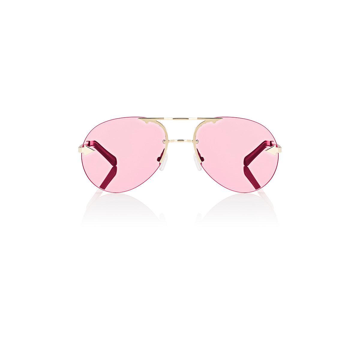 1154e756917 Lyst - Karen Walker Love Hangover Sunglasses in Pink